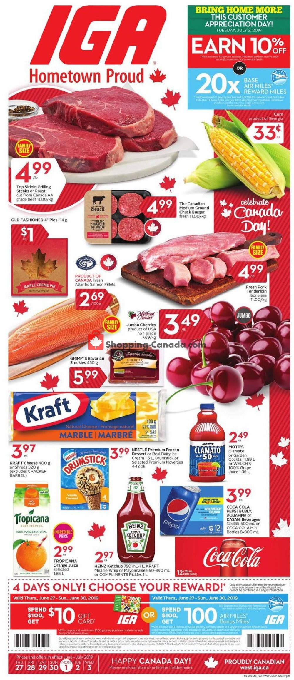 Flyer IGA Extra Canada - from Thursday June 27, 2019 to Wednesday July 3, 2019