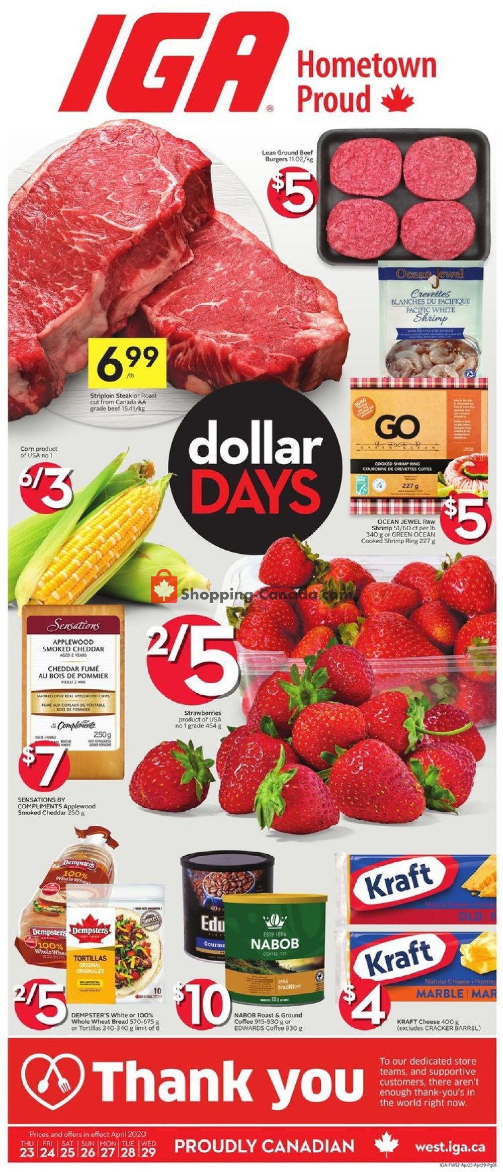Flyer IGA Extra Canada - from Thursday April 23, 2020 to Wednesday April 29, 2020