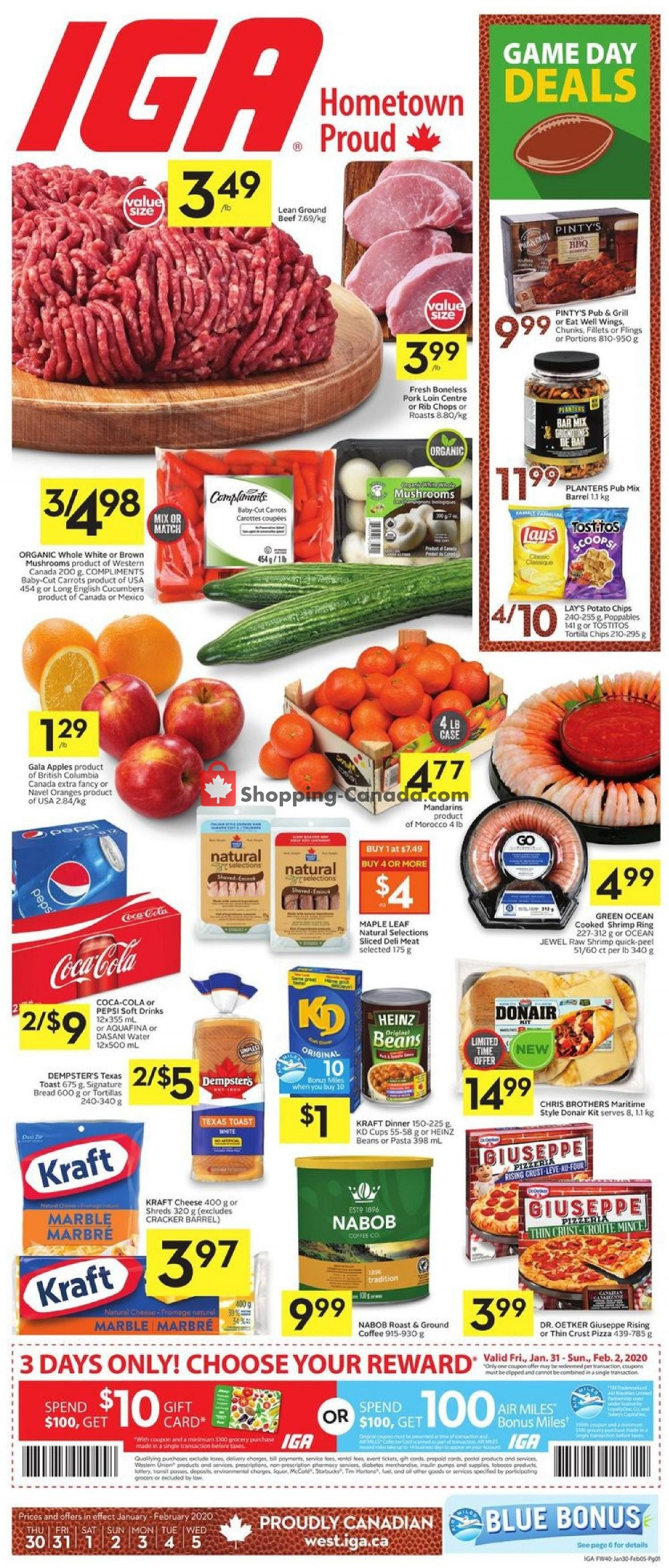 Flyer IGA Extra Canada - from Thursday January 30, 2020 to Wednesday February 5, 2020