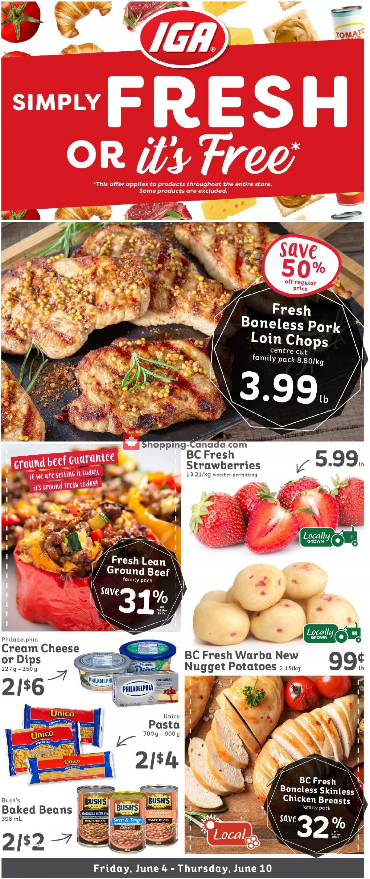 Flyer IGA Extra Canada - from Friday June 4, 2021 to Thursday June 10, 2021