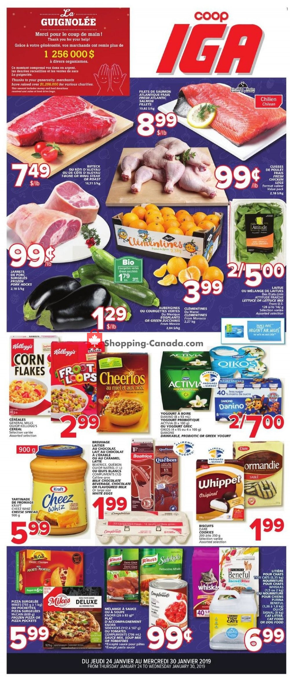 Flyer IGA Extra Canada - from Thursday January 24, 2019 to Wednesday January 30, 2019