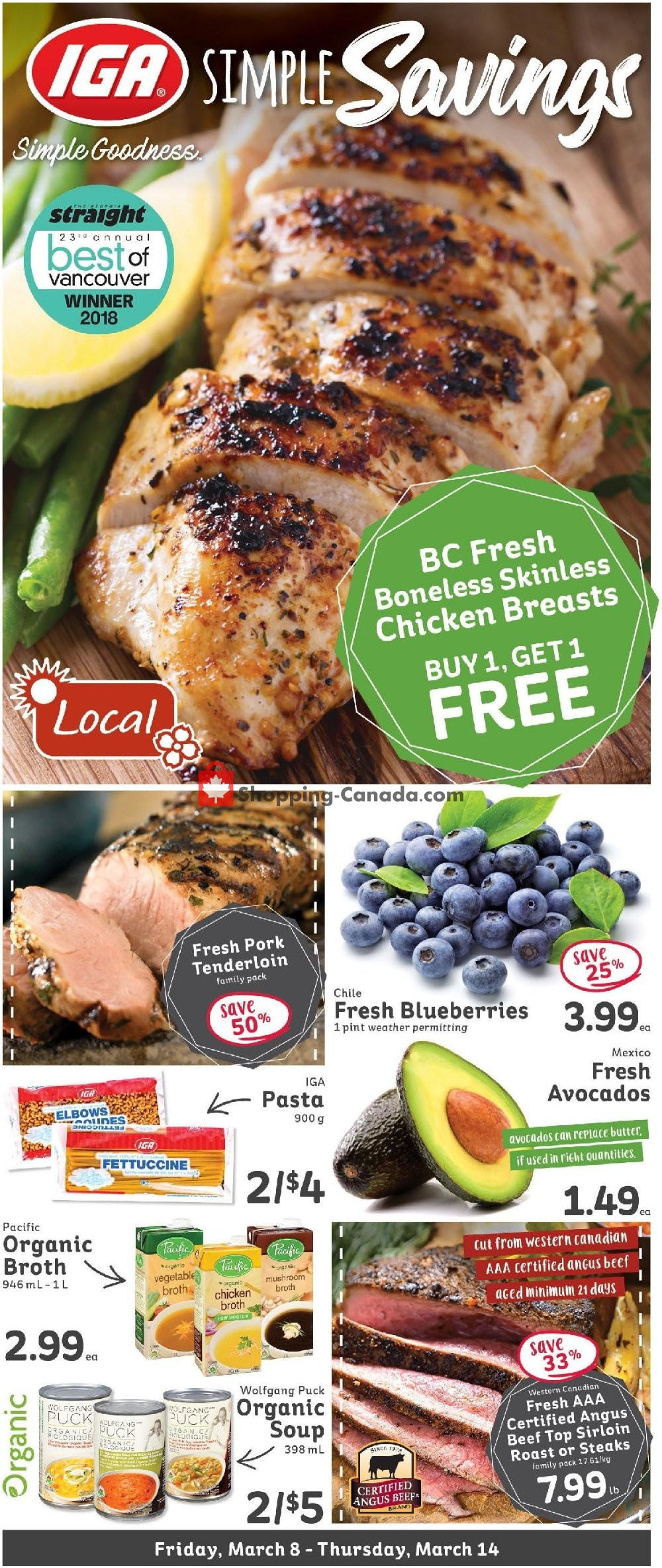 Flyer IGA Extra Canada - from Friday March 8, 2019 to Thursday March 14, 2019