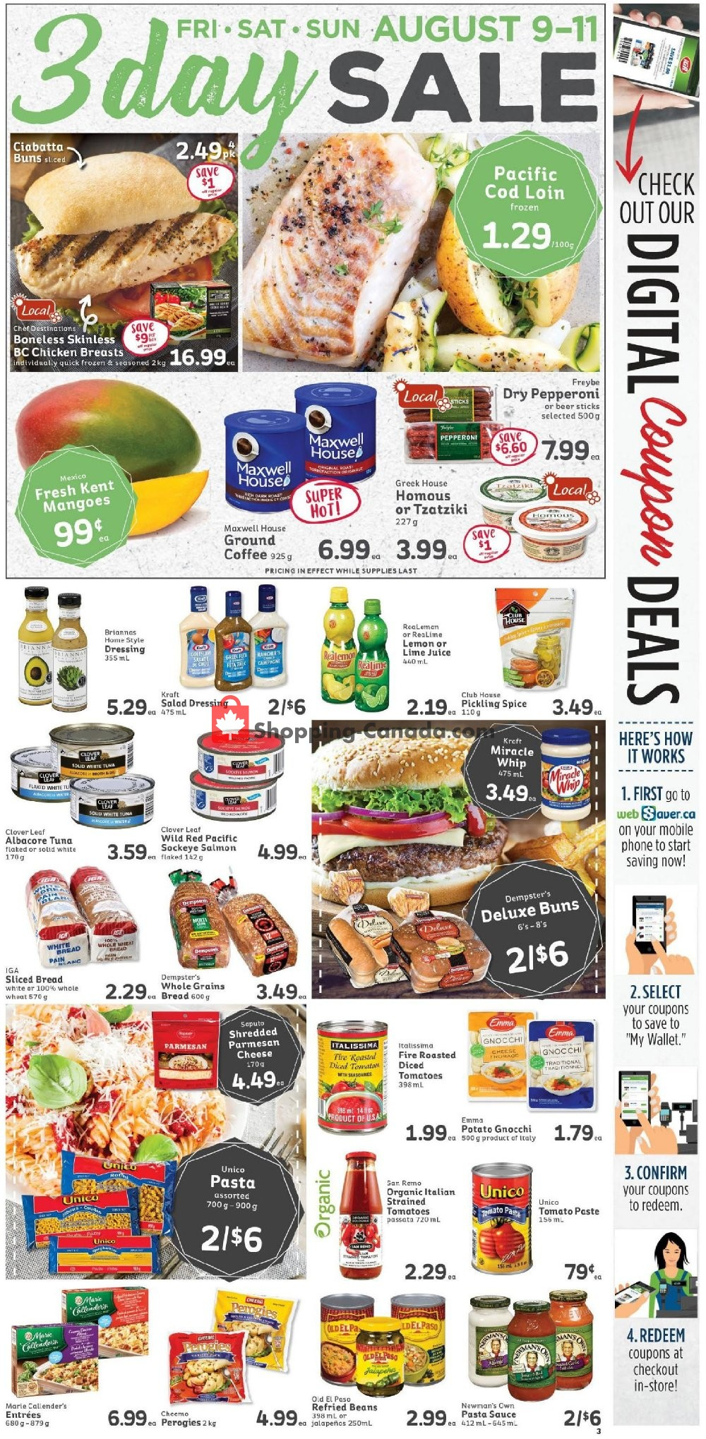 Flyer IGA Extra Canada - from Friday August 9, 2019 to Thursday August 15, 2019