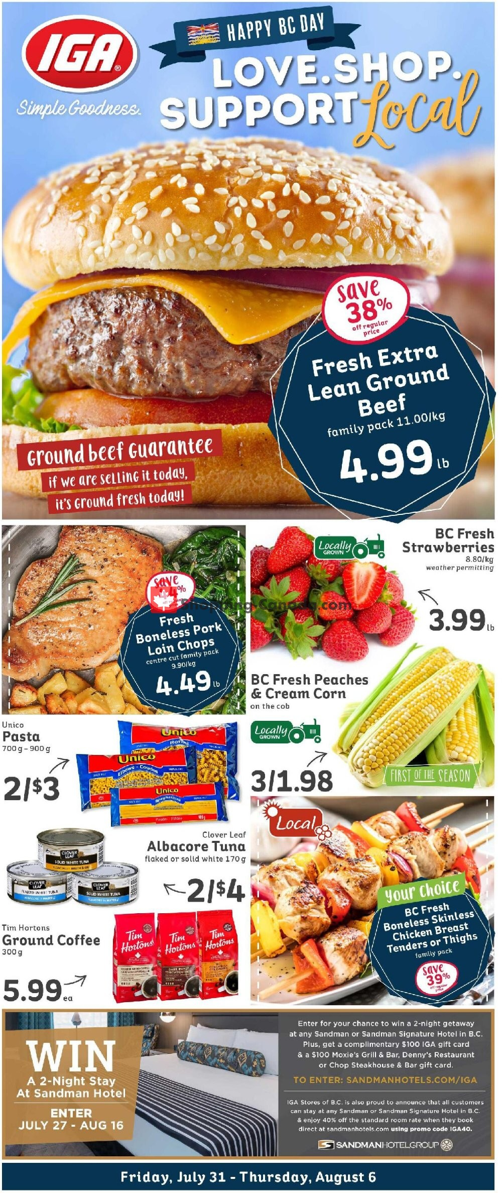 Flyer IGA Extra Canada - from Friday July 31, 2020 to Thursday August 6, 2020