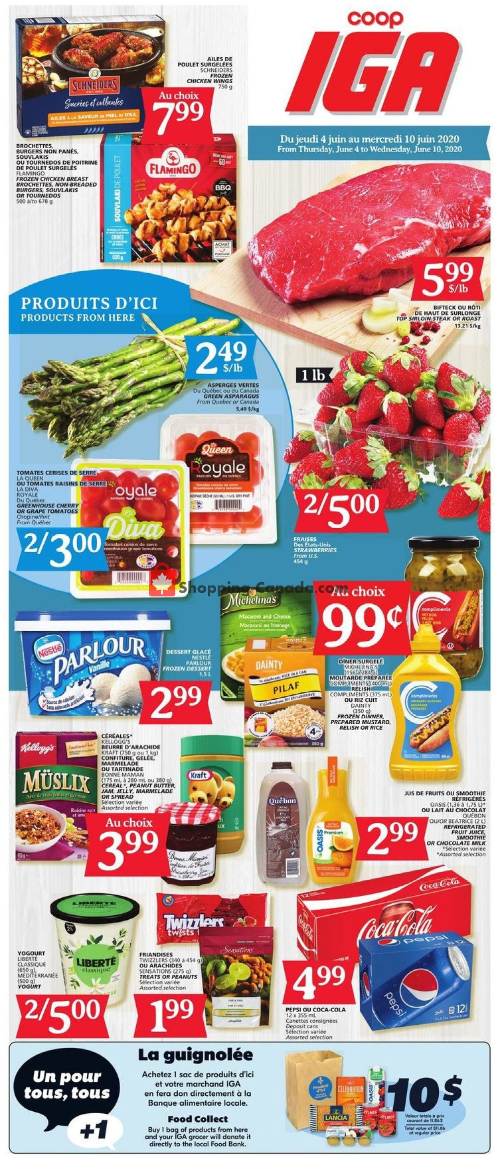 Flyer IGA Extra Canada - from Thursday June 4, 2020 to Wednesday June 10, 2020