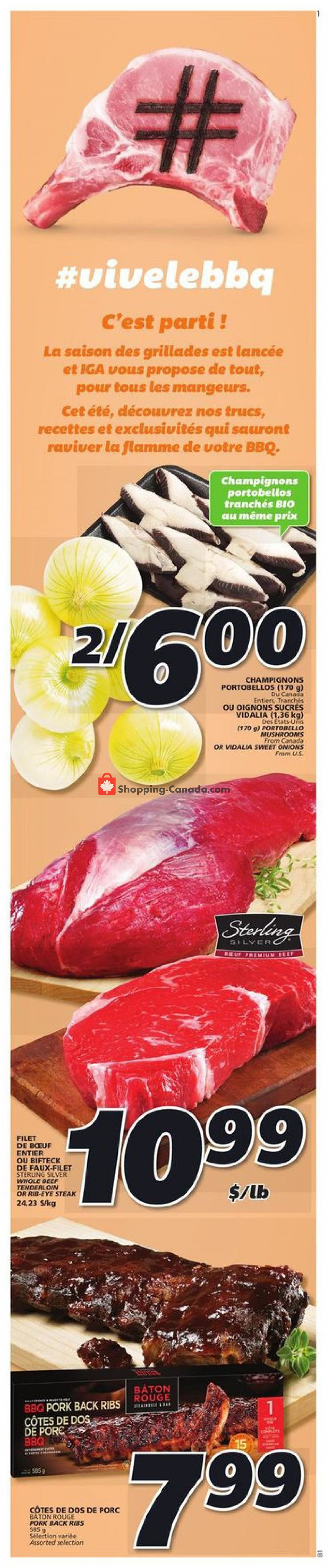 Flyer IGA Extra Canada - from Thursday May 28, 2020 to Wednesday June 3, 2020