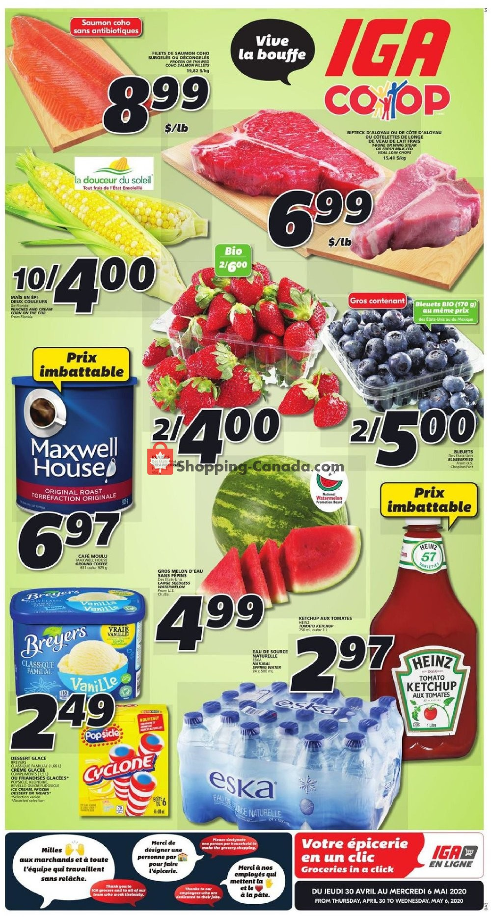 Flyer IGA Extra Canada - from Thursday April 30, 2020 to Wednesday May 6, 2020