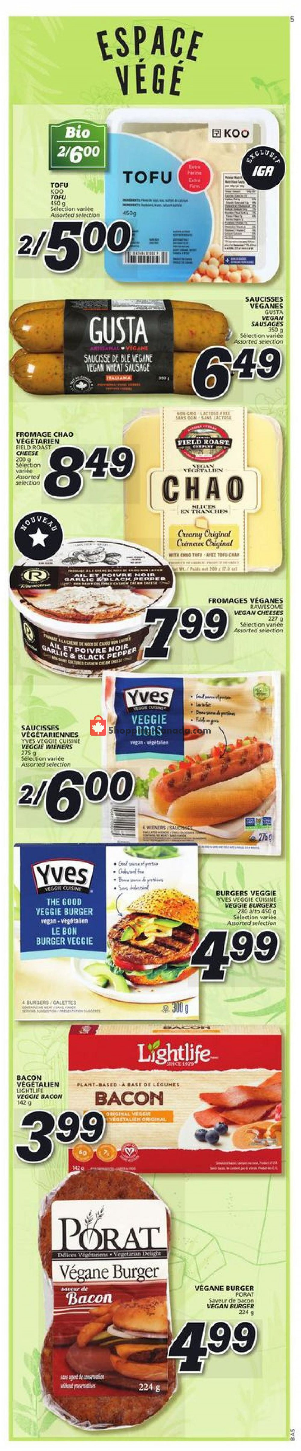 Flyer IGA Extra Canada - from Thursday July 11, 2019 to Wednesday July 17, 2019
