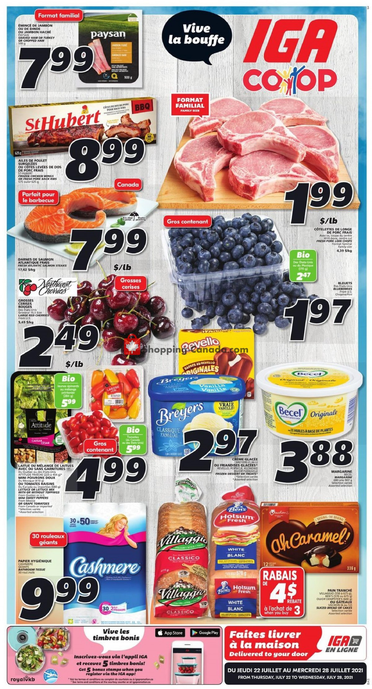 Flyer IGA Extra Canada - from Thursday July 22, 2021 to Wednesday July 28, 2021