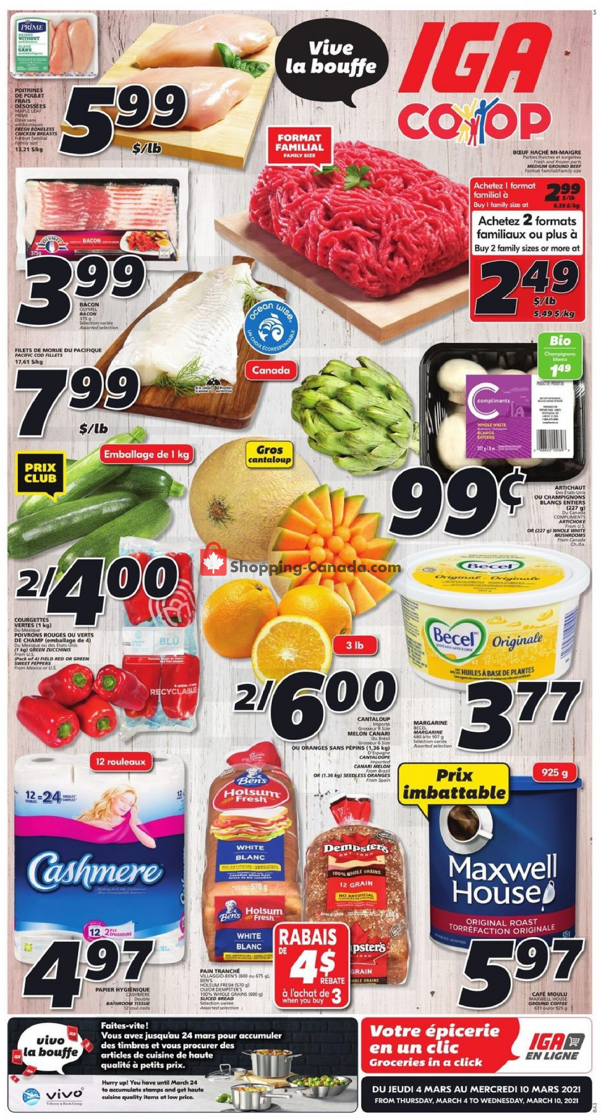 Flyer IGA Extra Canada - from Thursday March 4, 2021 to Wednesday March 10, 2021