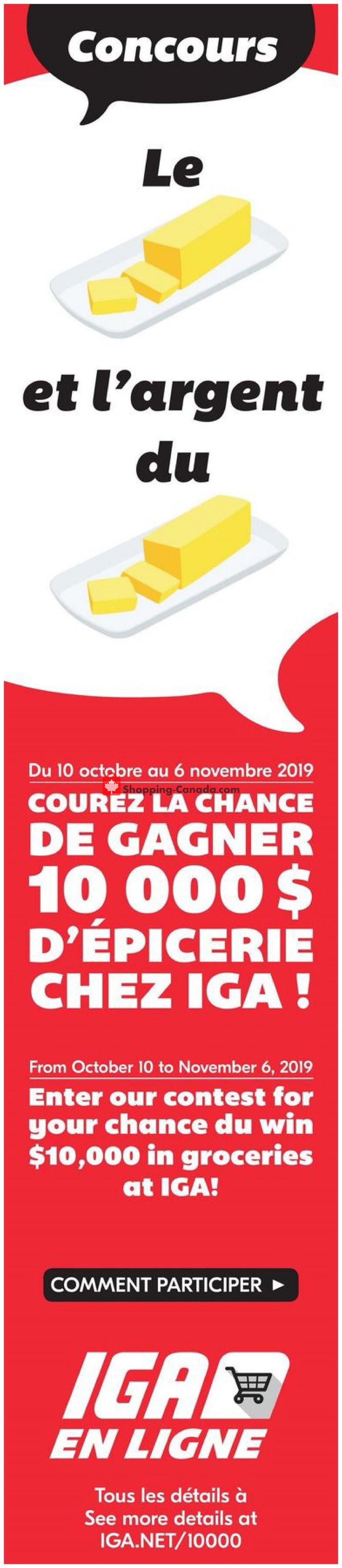 Flyer IGA Extra Canada - from Thursday October 10, 2019 to Wednesday October 16, 2019