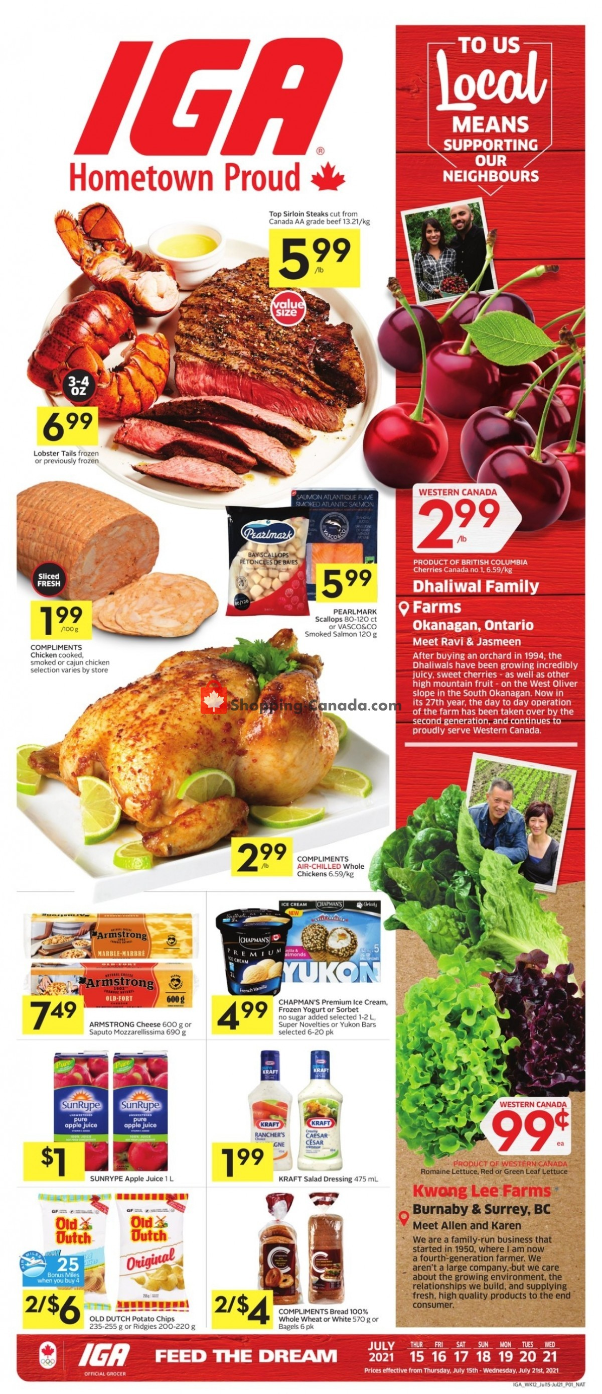 Flyer IGA Extra Canada - from Thursday July 15, 2021 to Wednesday July 21, 2021
