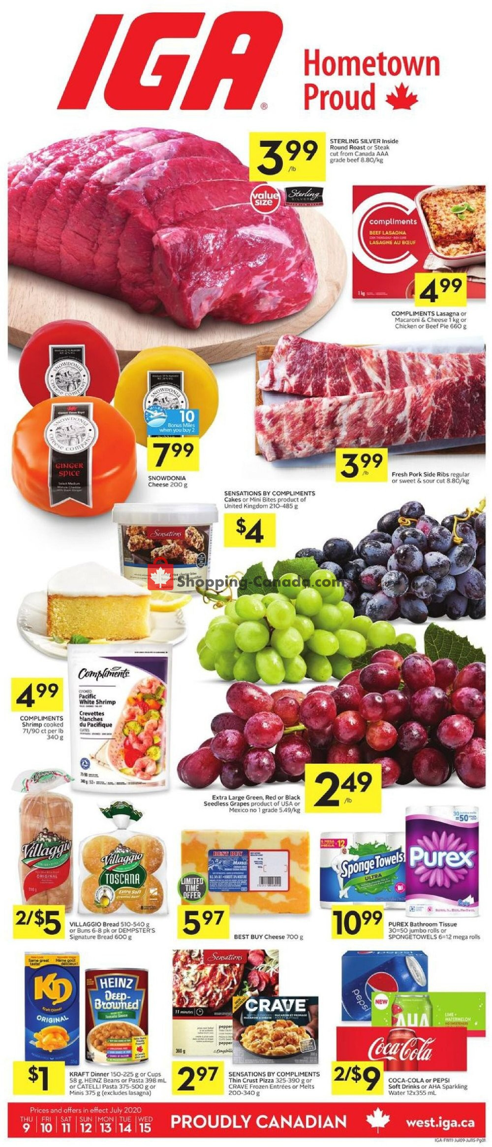 Flyer IGA Extra Canada - from Thursday July 9, 2020 to Wednesday July 15, 2020