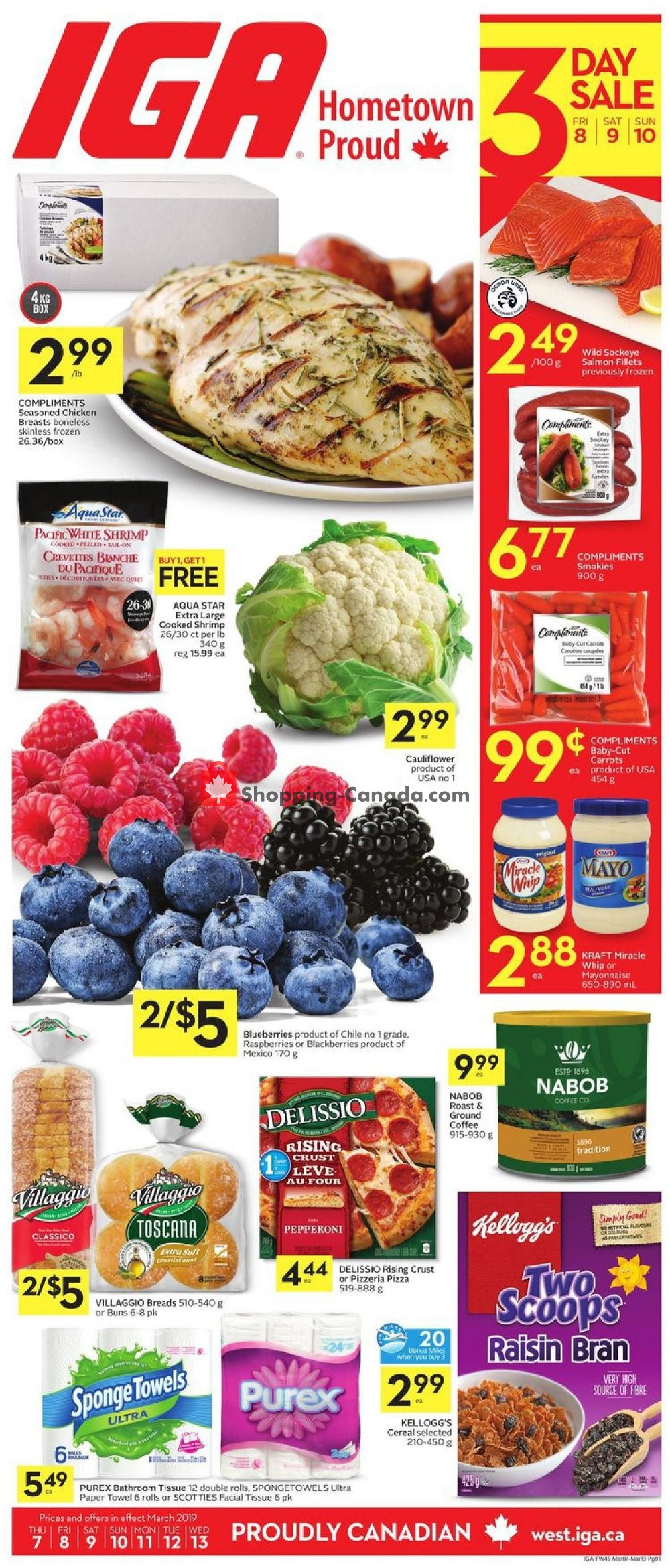 Flyer IGA Extra Canada - from Thursday March 7, 2019 to Wednesday March 13, 2019