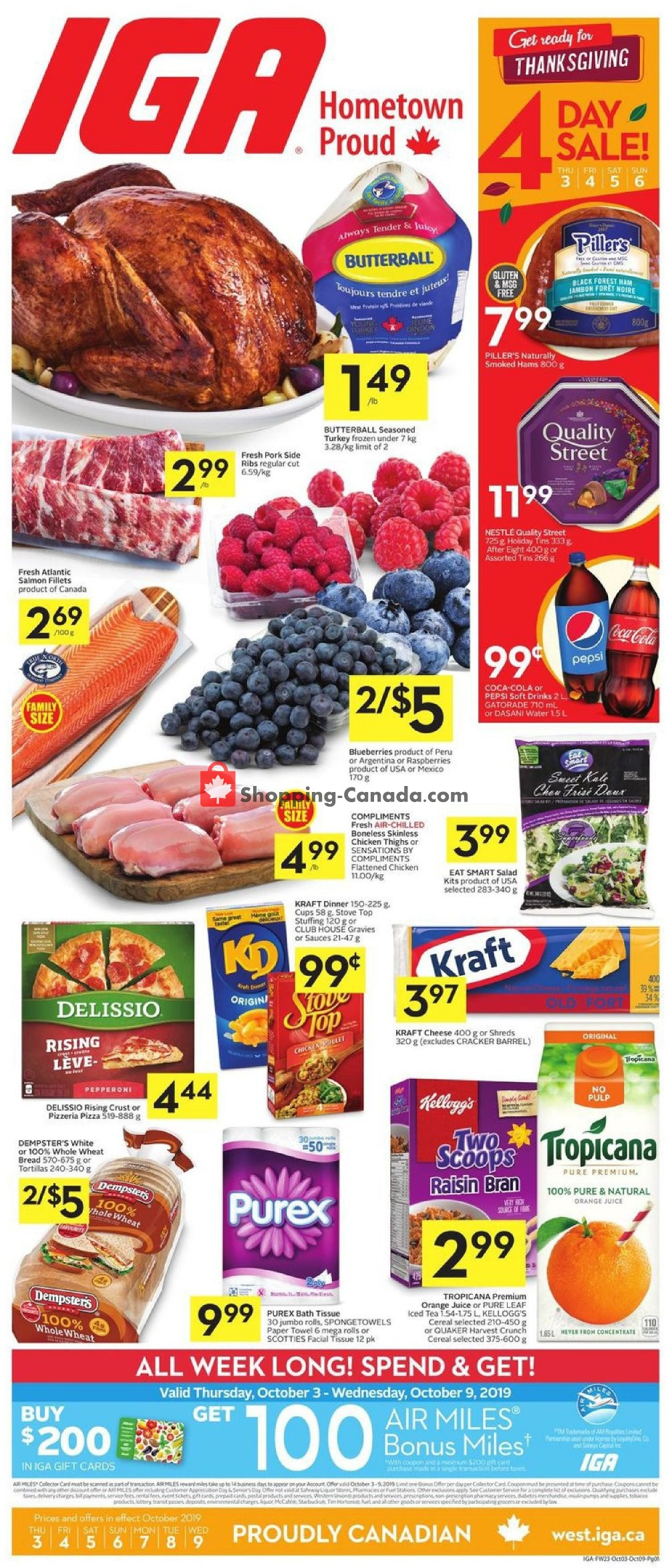 Flyer IGA Extra Canada - from Thursday October 3, 2019 to Wednesday October 9, 2019