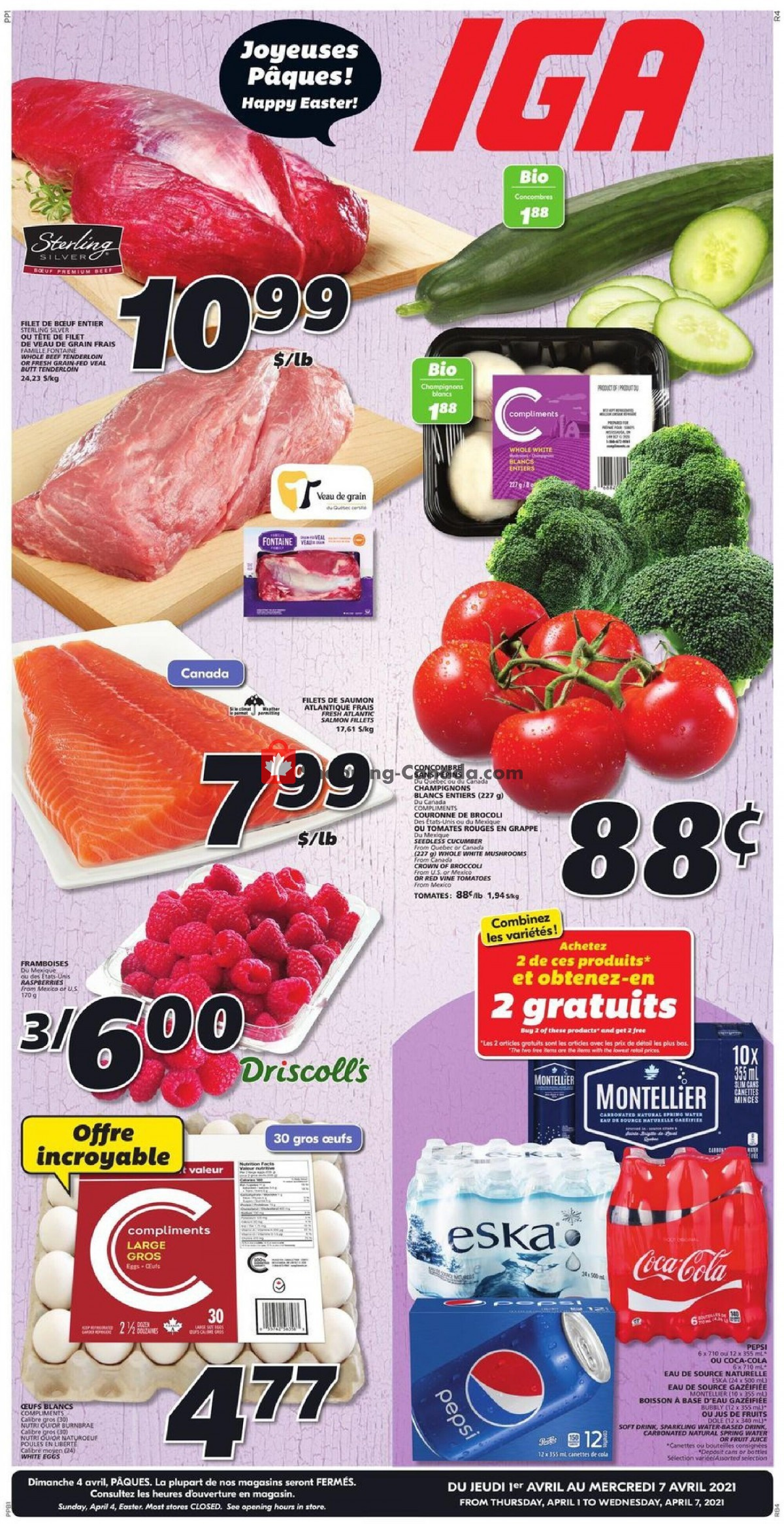 Flyer IGA Extra Canada - from Thursday April 1, 2021 to Wednesday April 7, 2021