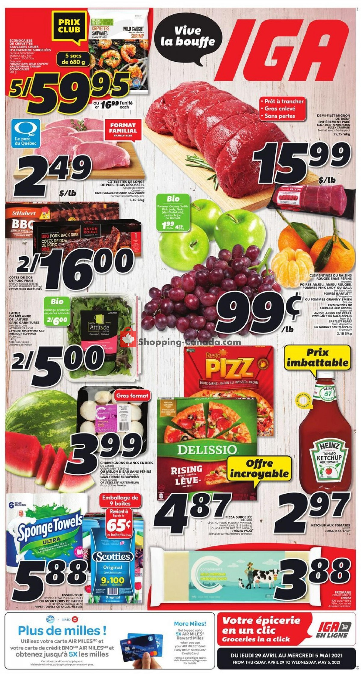 Flyer IGA Extra Canada - from Thursday April 29, 2021 to Wednesday May 5, 2021