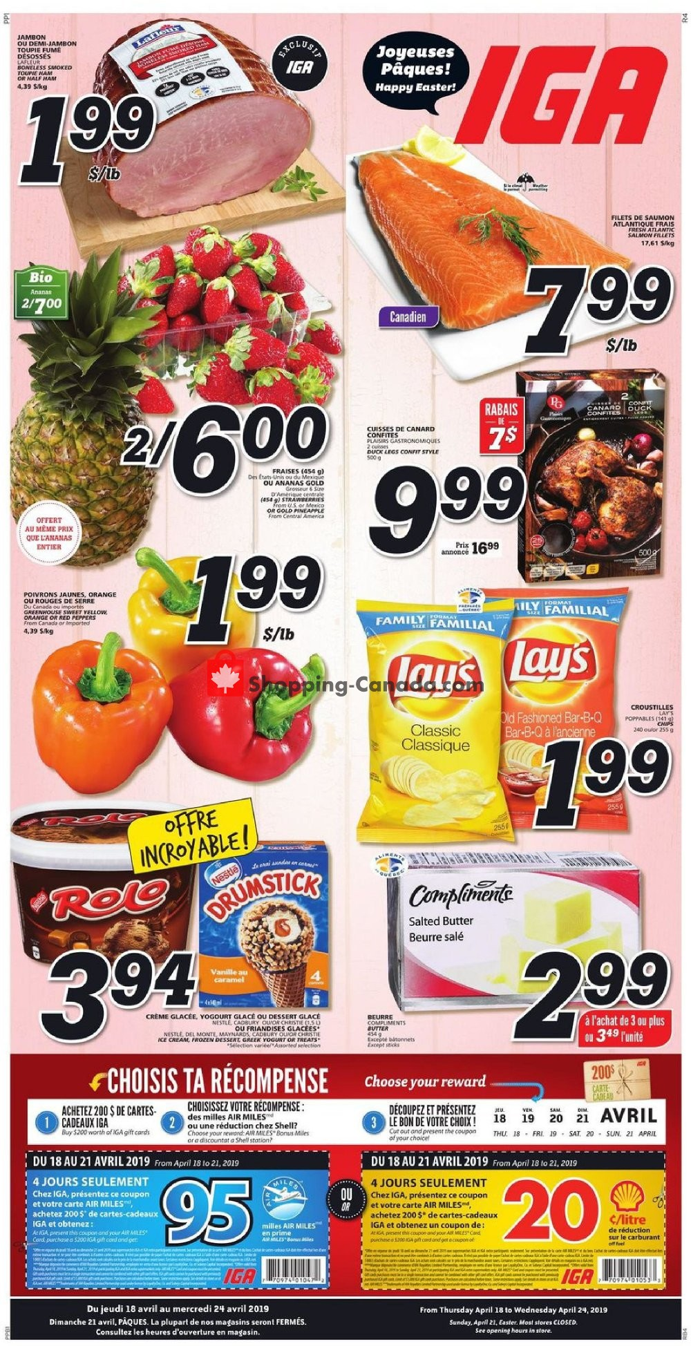 Flyer IGA Extra Canada - from Thursday April 18, 2019 to Wednesday April 24, 2019