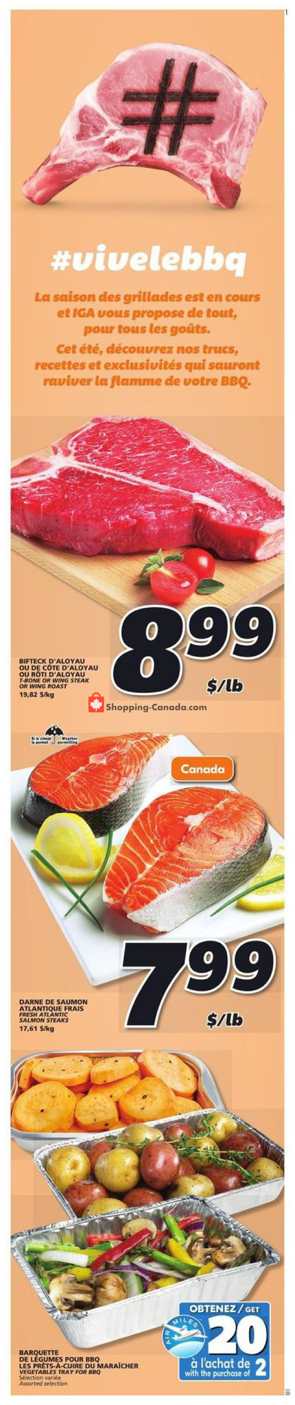 Flyer IGA Extra Canada - from Thursday July 16, 2020 to Wednesday July 22, 2020