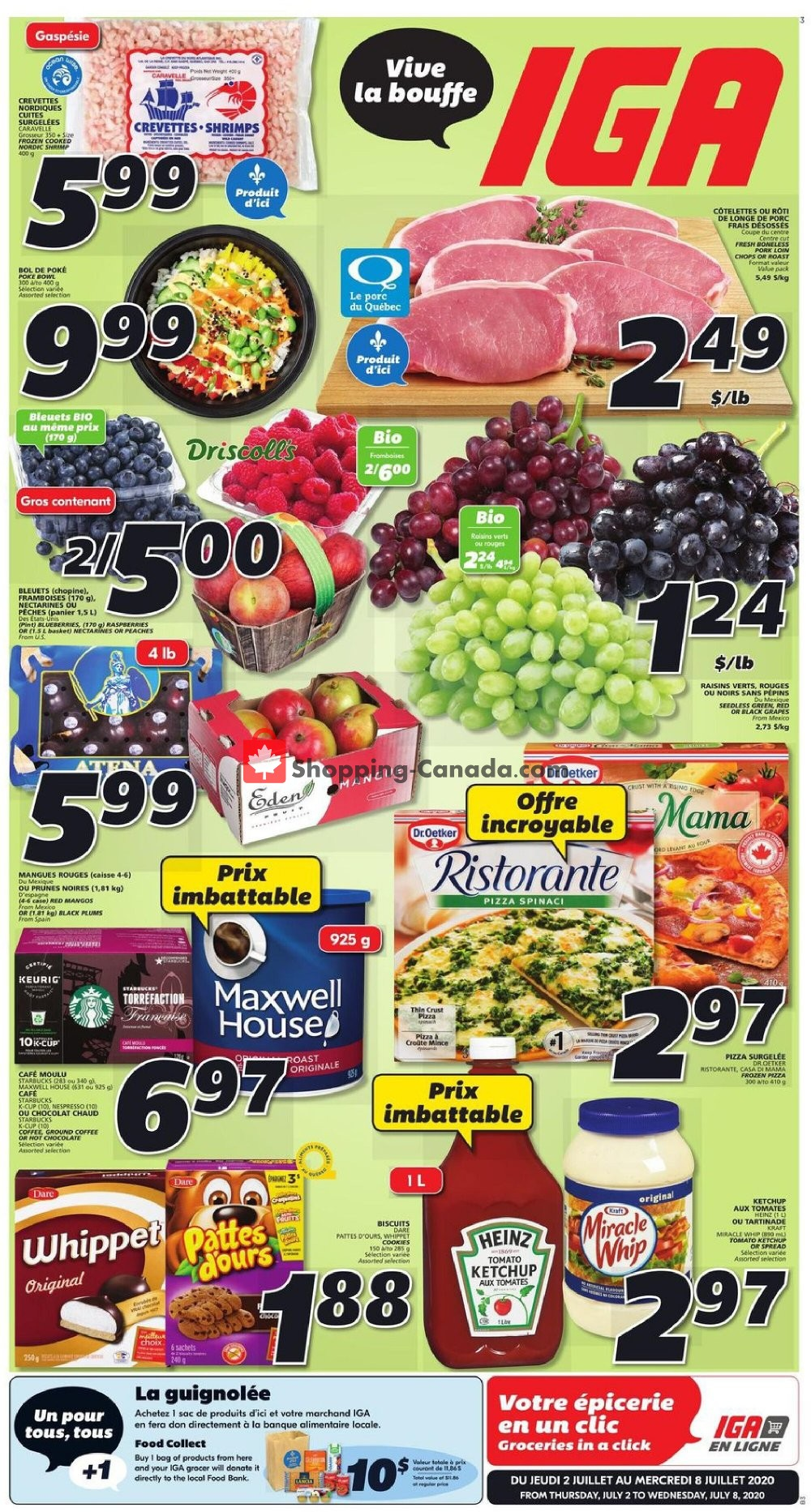 Flyer IGA Extra Canada - from Thursday July 2, 2020 to Wednesday July 8, 2020