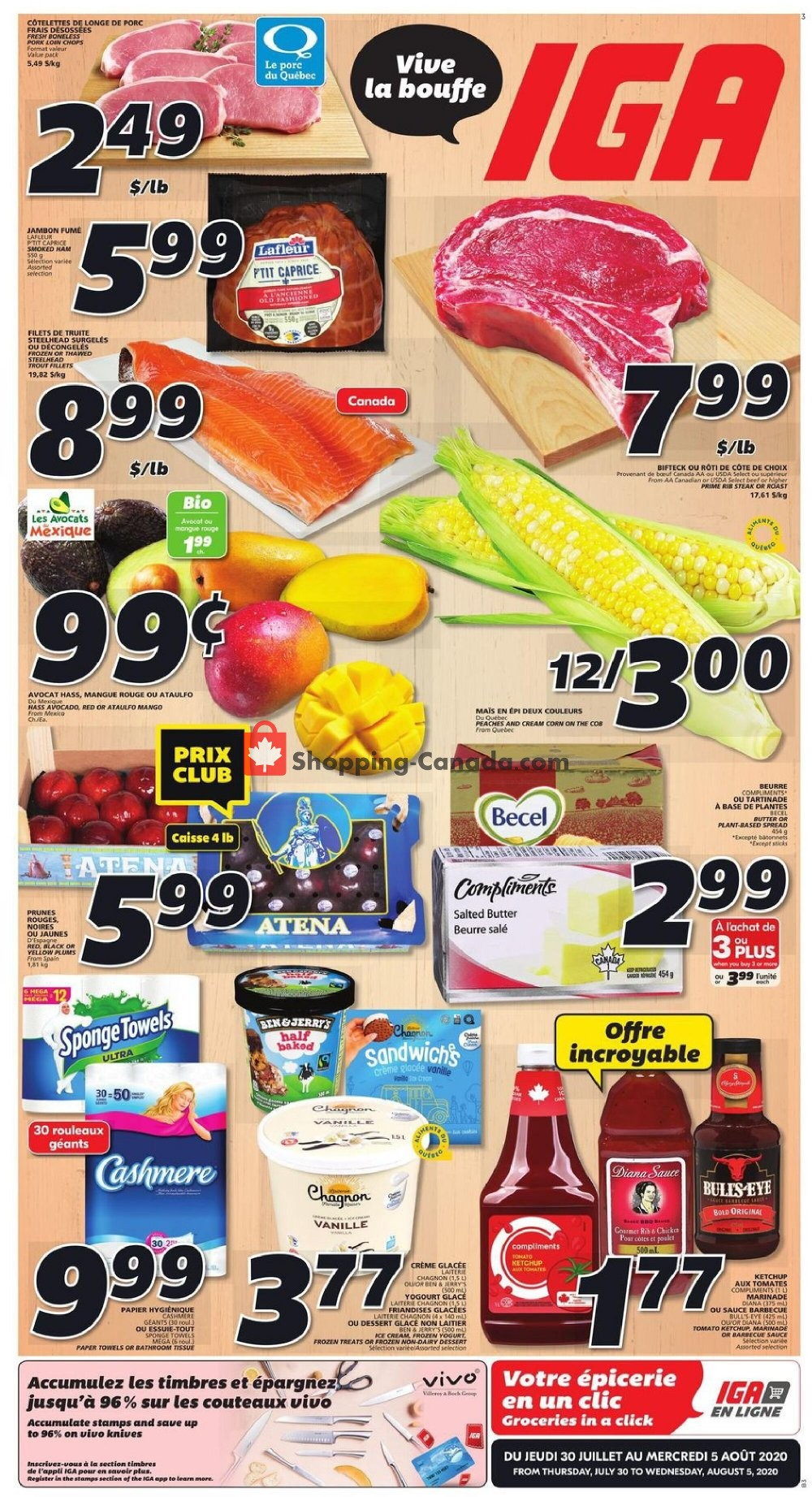 Flyer IGA Extra Canada - from Thursday July 30, 2020 to Wednesday August 5, 2020