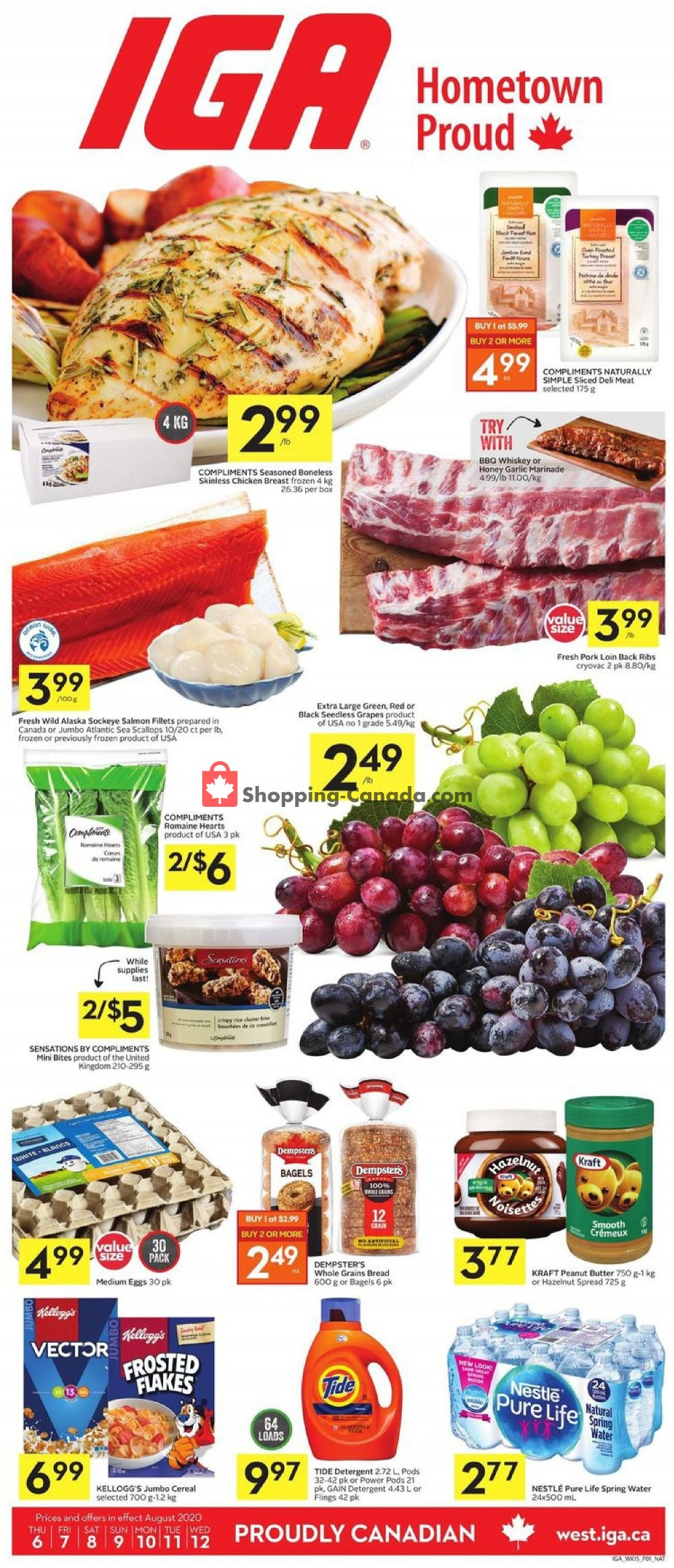 Flyer IGA Extra Canada - from Thursday August 6, 2020 to Wednesday August 12, 2020