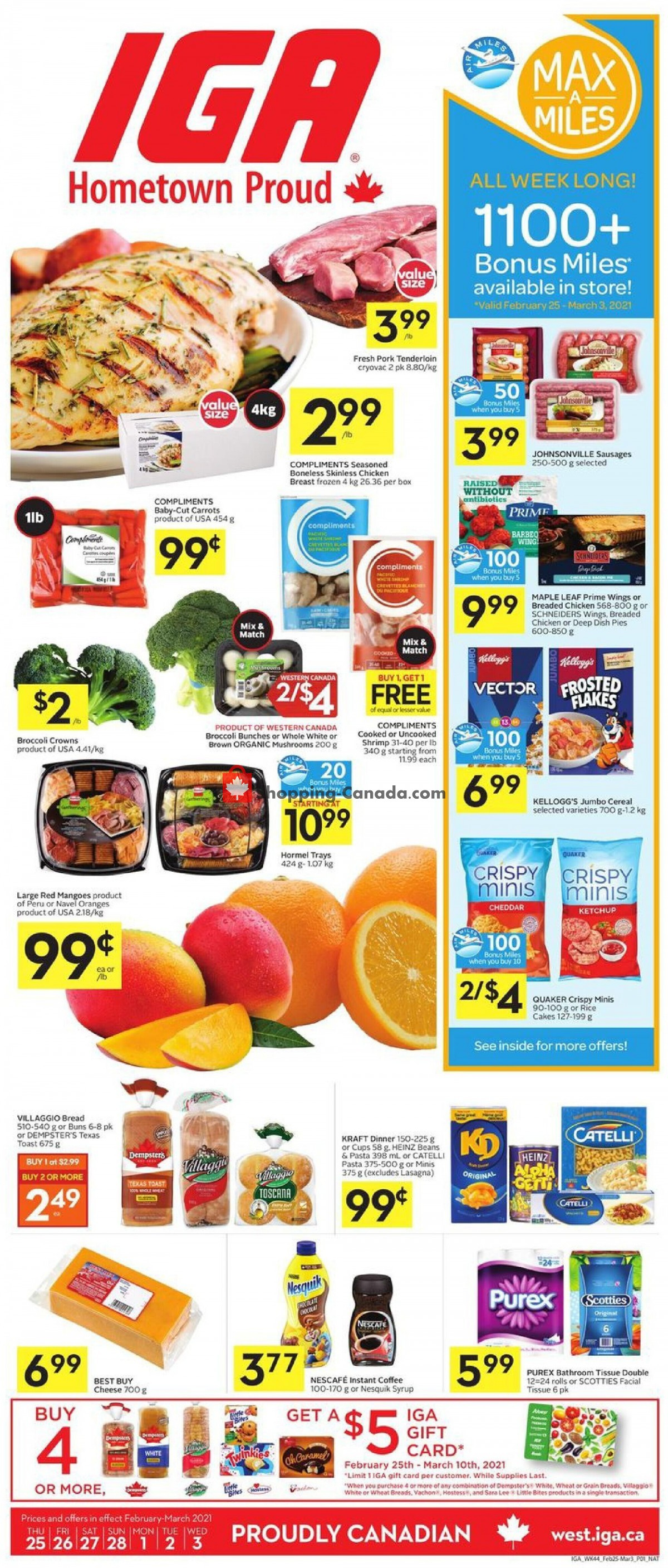 Flyer IGA Extra Canada - from Thursday February 25, 2021 to Wednesday March 3, 2021