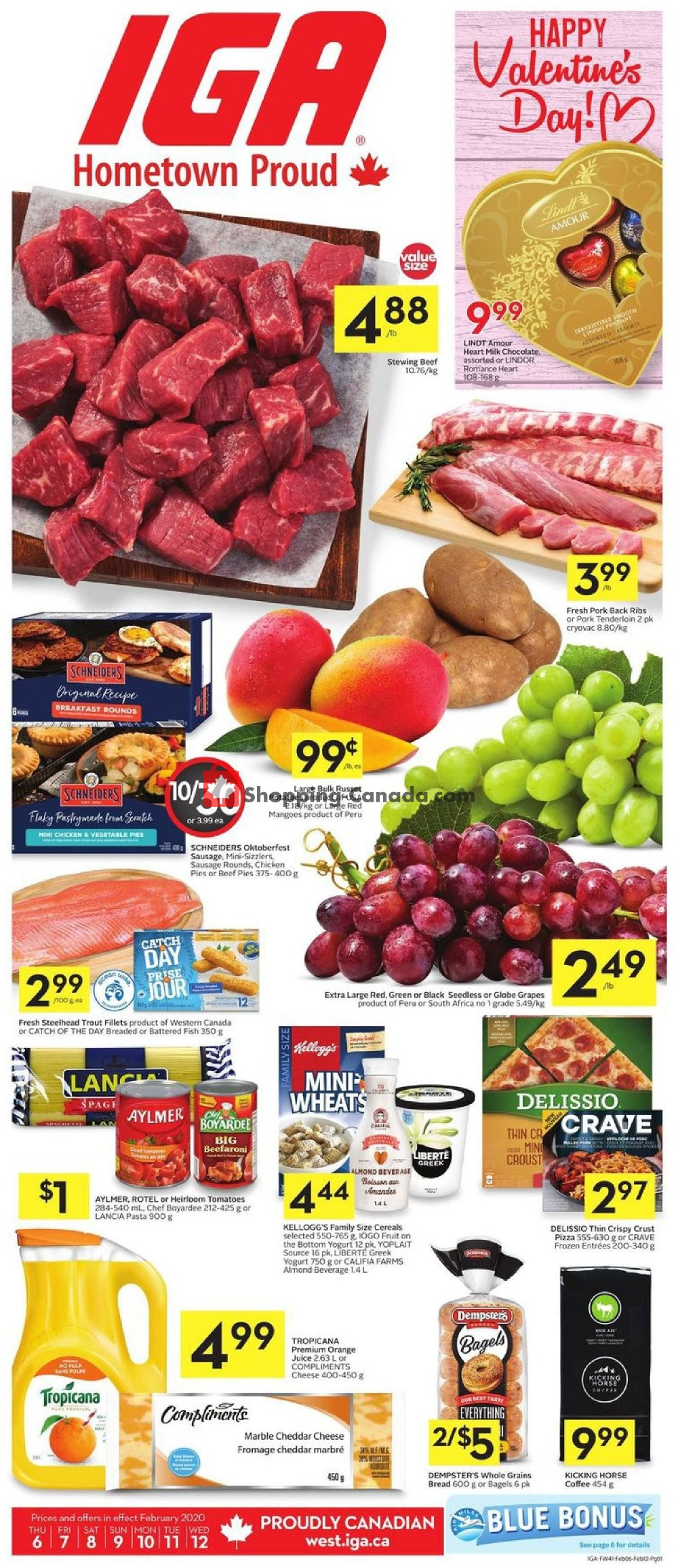 Flyer IGA Extra Canada - from Thursday February 6, 2020 to Wednesday February 12, 2020