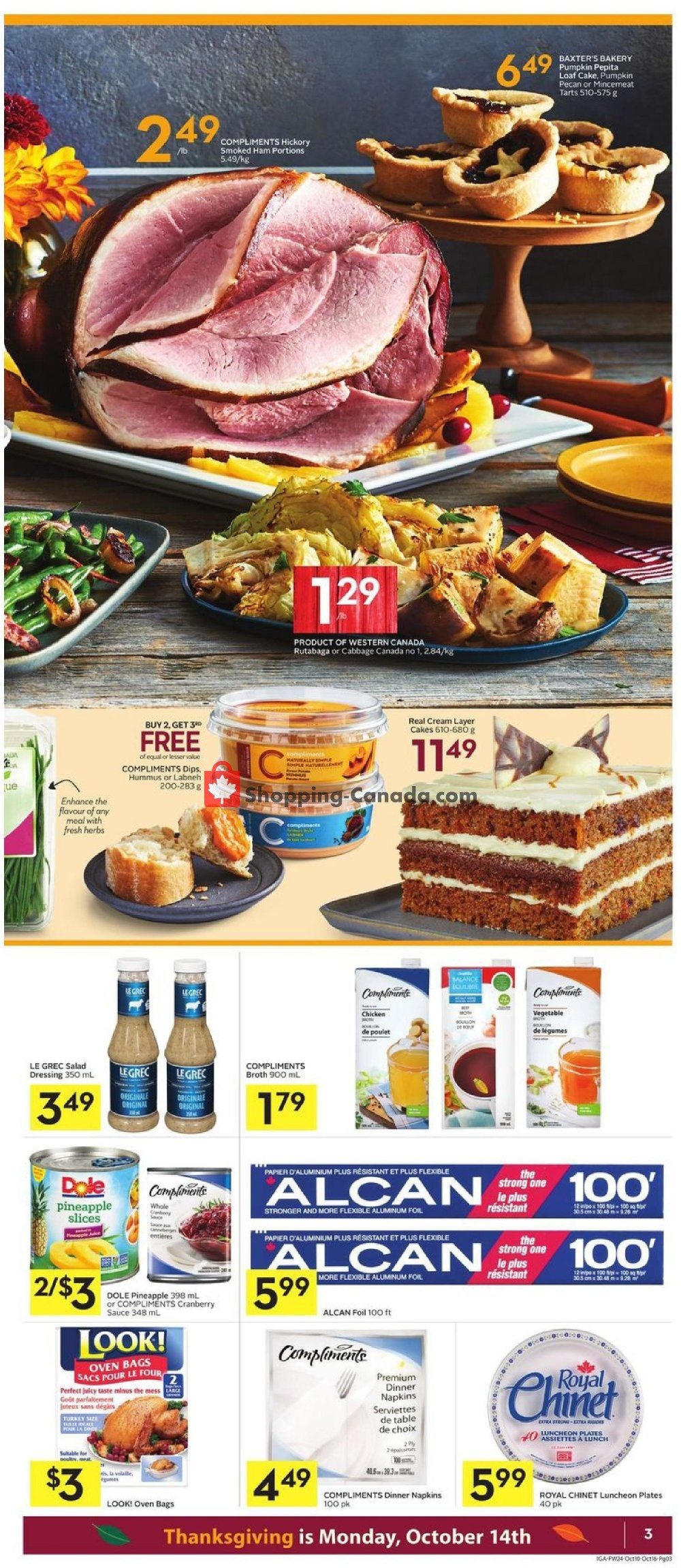 Flyer IGA Extra Canada - from Thursday October 10, 2019 to Wednesday October 16, 2019