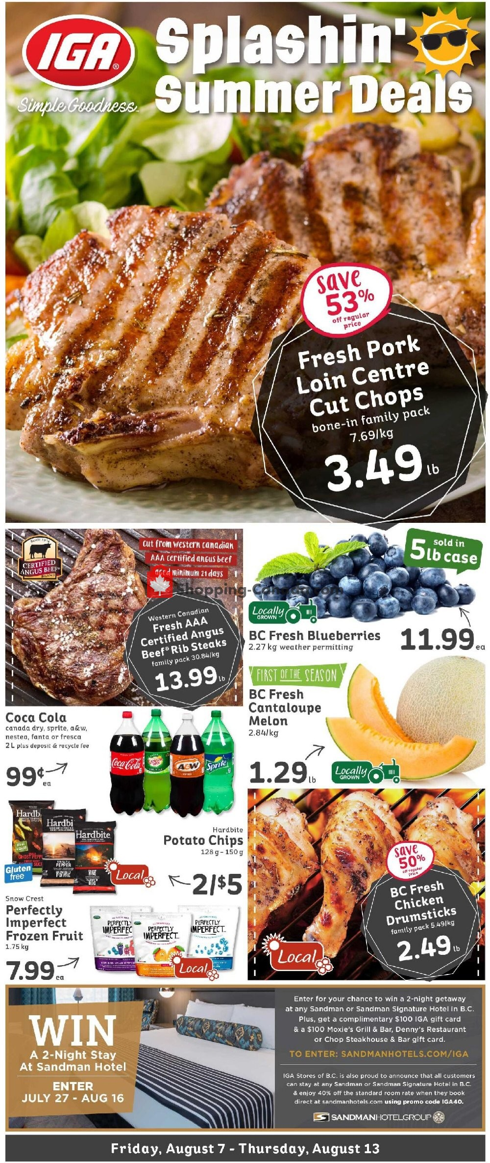 Flyer IGA Extra Canada - from Friday August 7, 2020 to Thursday August 13, 2020