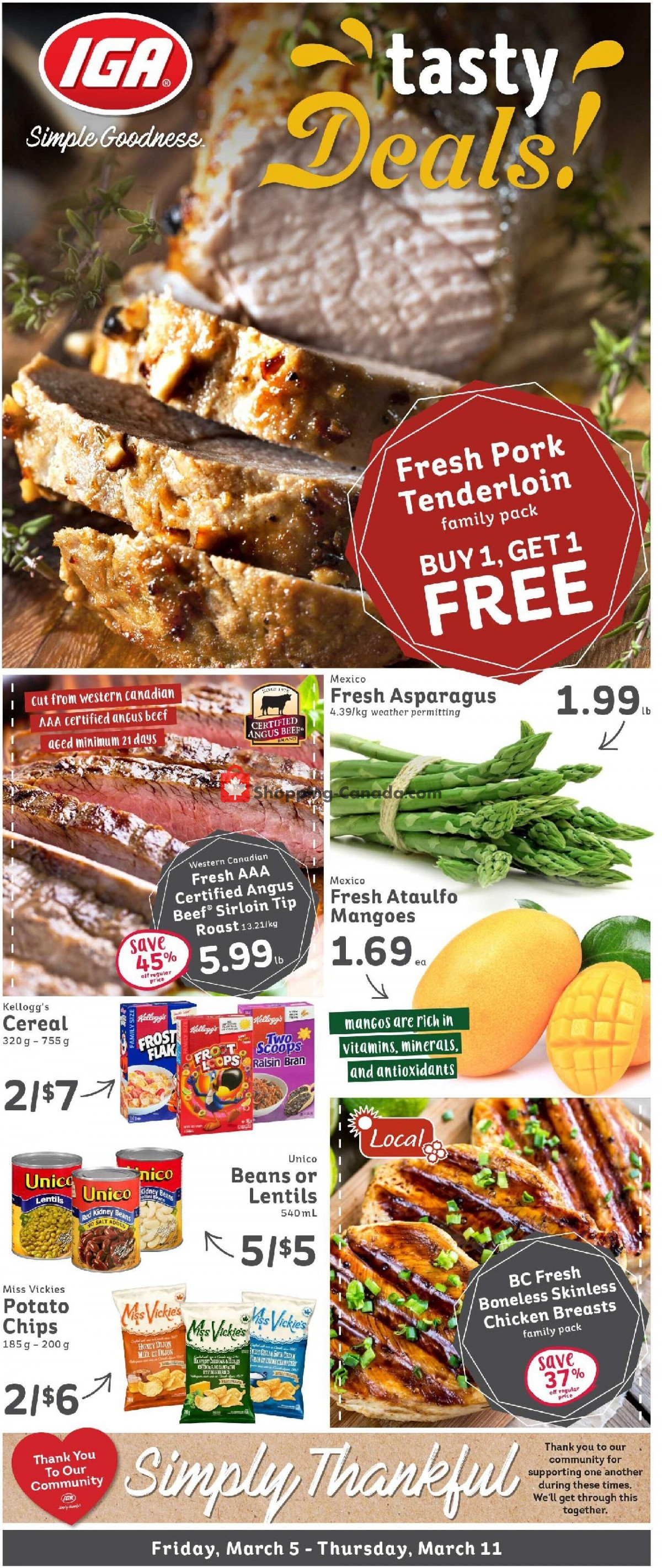 Flyer IGA Extra Canada - from Friday March 5, 2021 to Thursday March 11, 2021