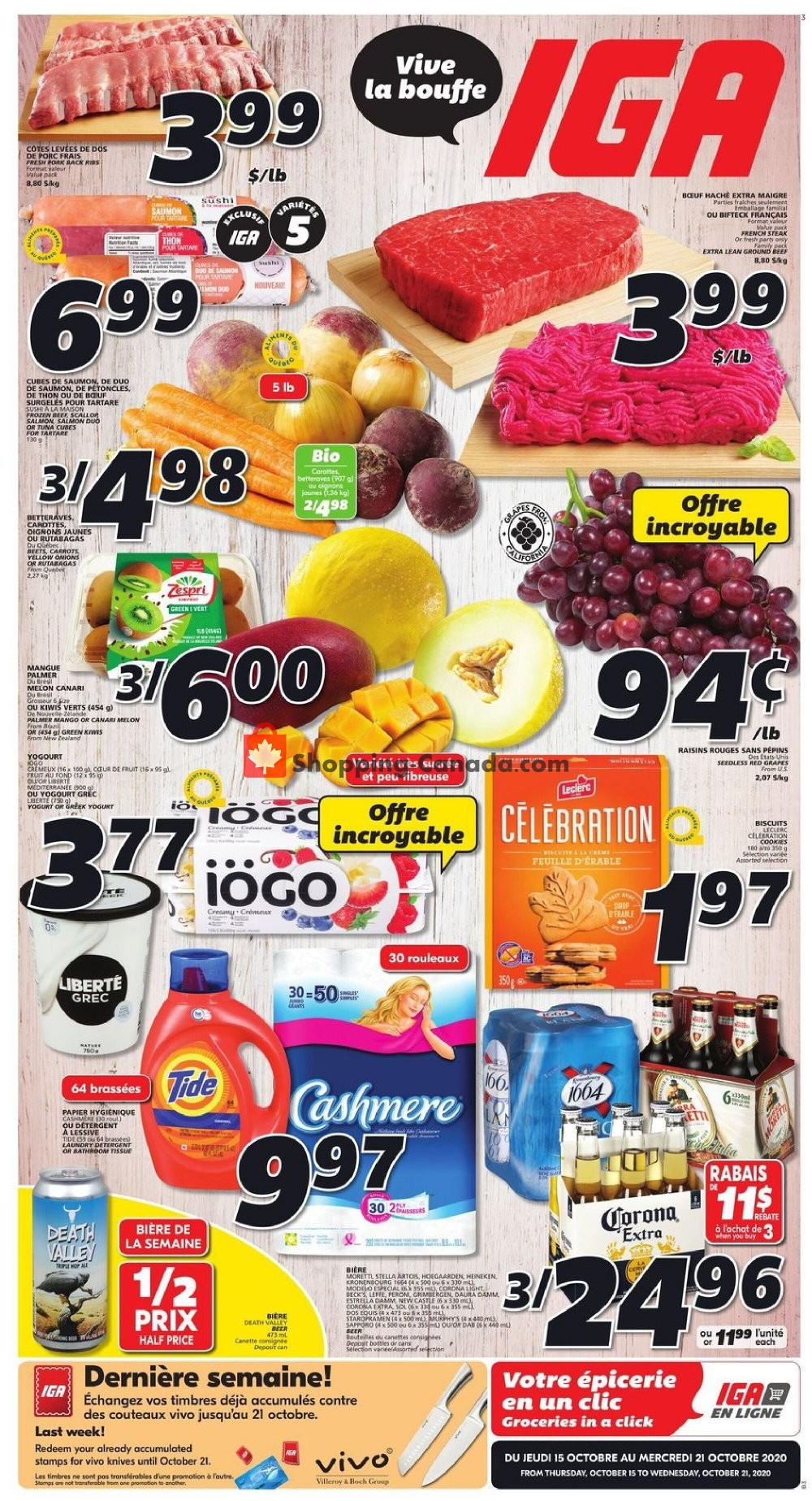 Flyer IGA Extra Canada - from Thursday October 15, 2020 to Wednesday October 21, 2020