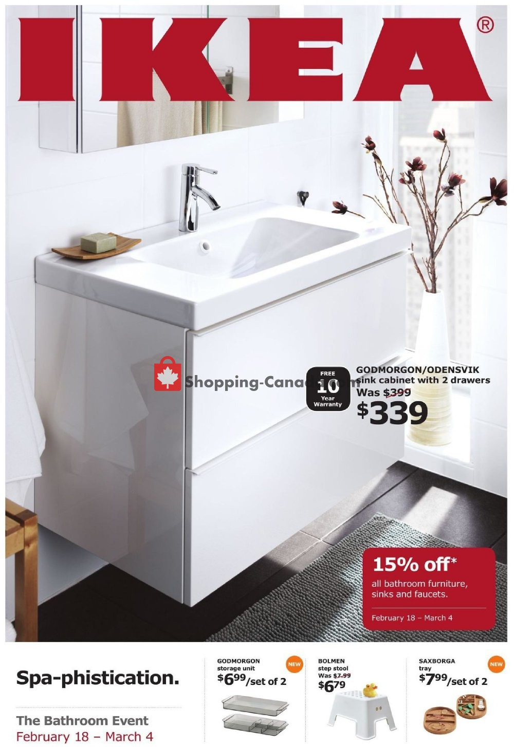 Flyer Ikea Canada - from Monday February 18, 2019 to Monday March 4, 2019