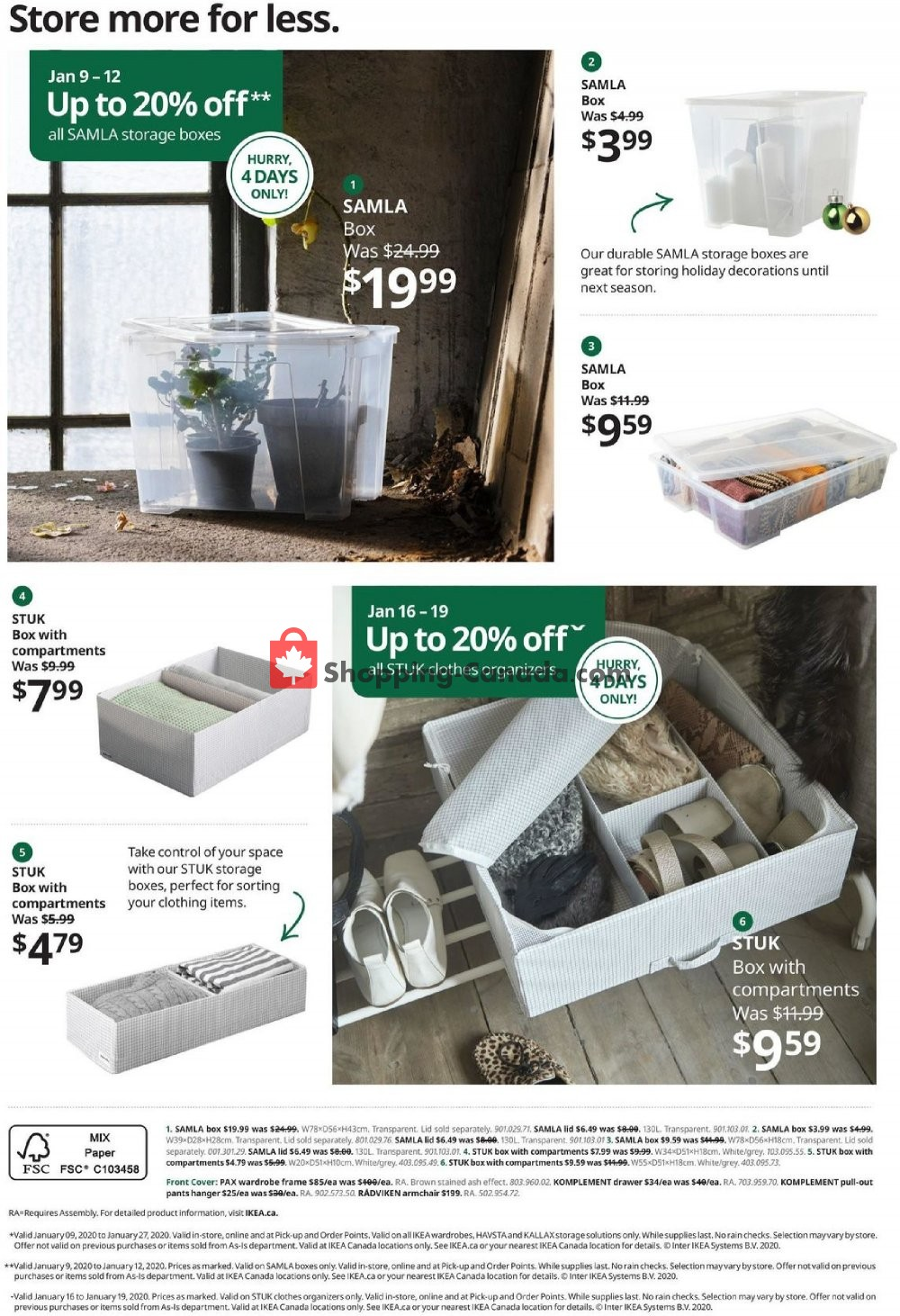 Flyer Ikea Canada - from Thursday January 9, 2020 to Monday January 27, 2020