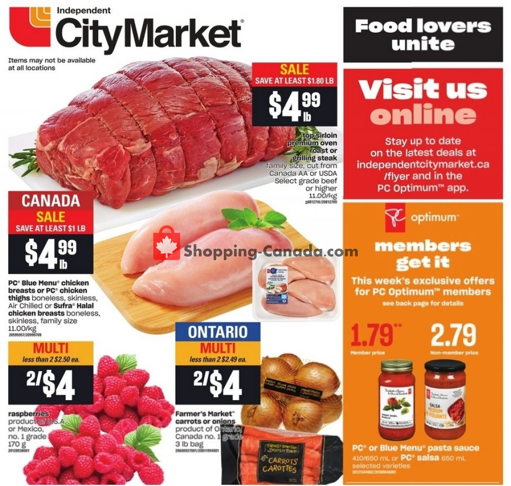 Flyer Independent City Market Canada - from Thursday January 14, 2021 to Wednesday January 20, 2021