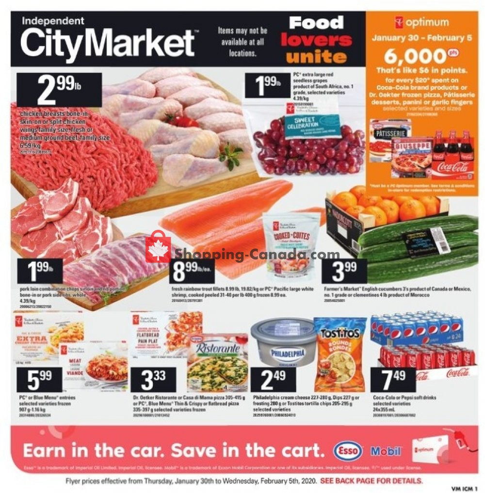 Flyer Independent City Market Canada - from Thursday January 30, 2020 to Wednesday February 5, 2020
