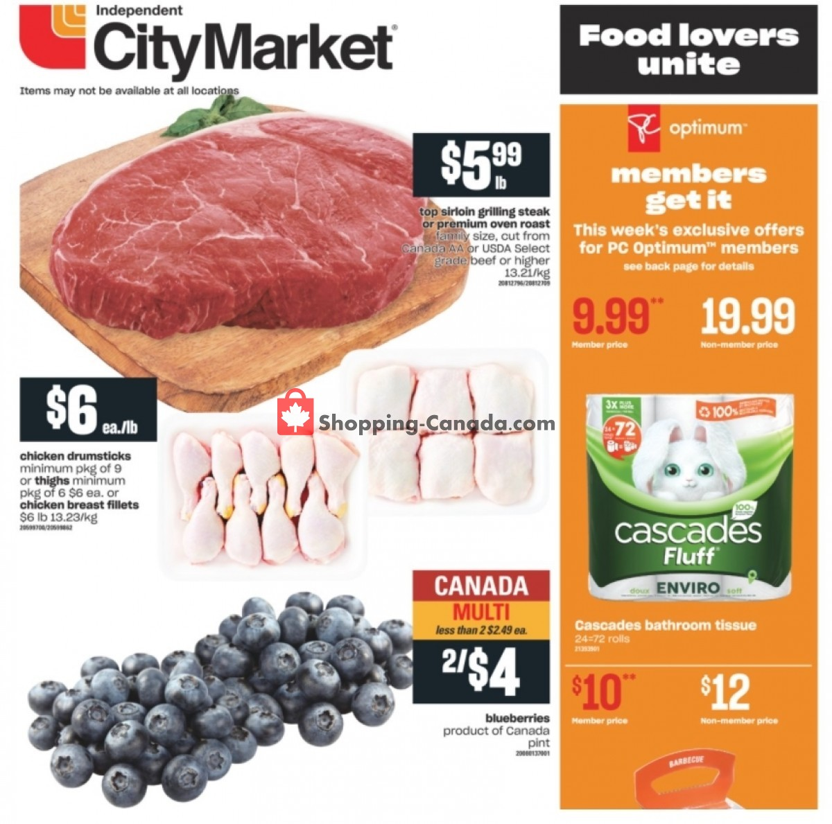 Flyer Independent City Market Canada - from Thursday July 15, 2021 to Wednesday July 21, 2021