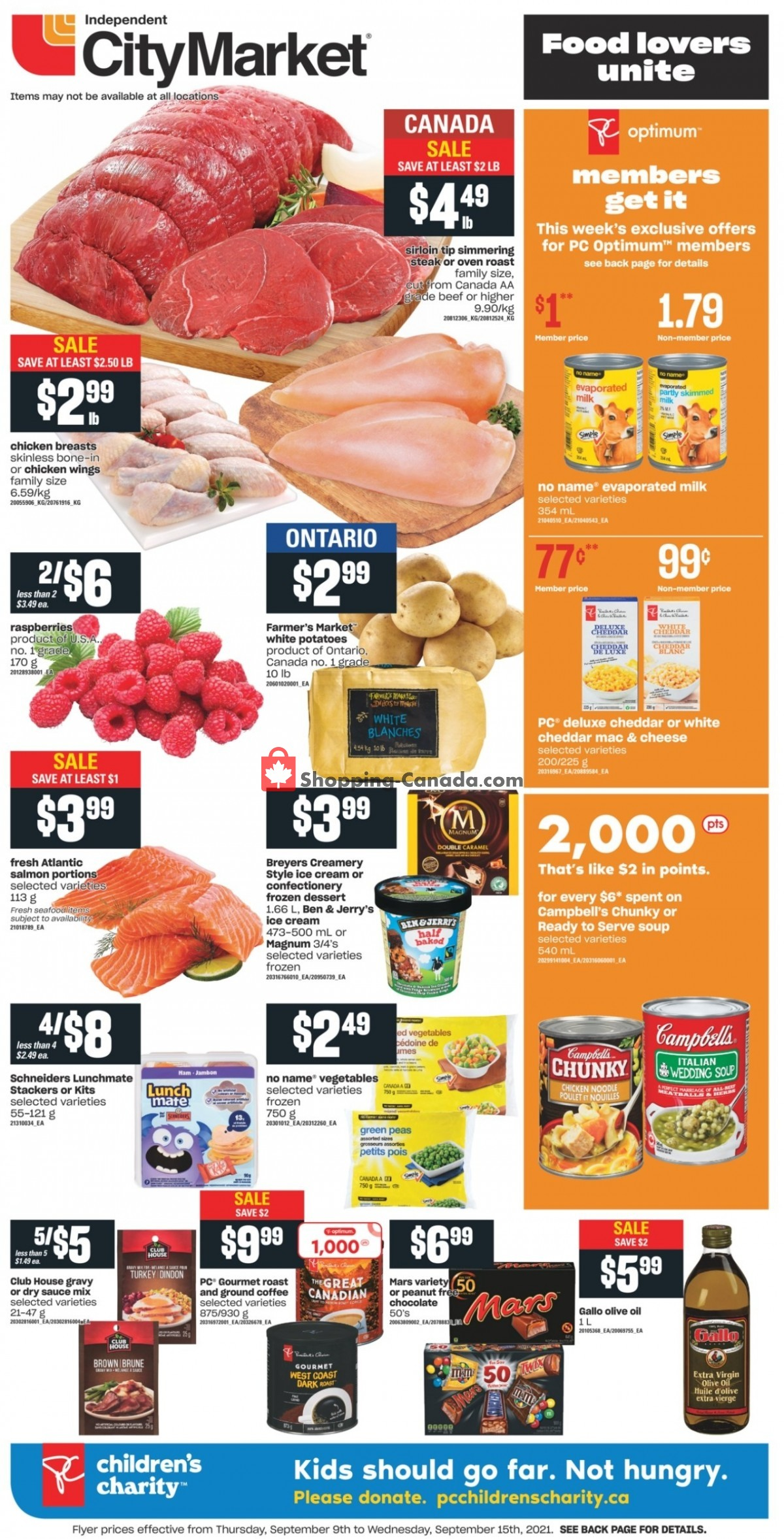 Flyer Independent City Market Canada - from Thursday September 9, 2021 to Wednesday September 15, 2021
