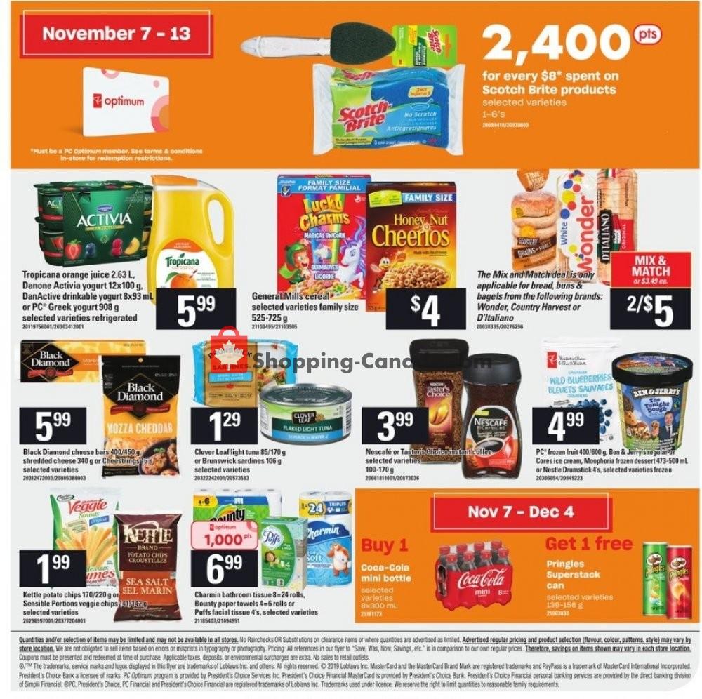 Flyer Independent City Market Canada - from Thursday November 7, 2019 to Wednesday November 13, 2019