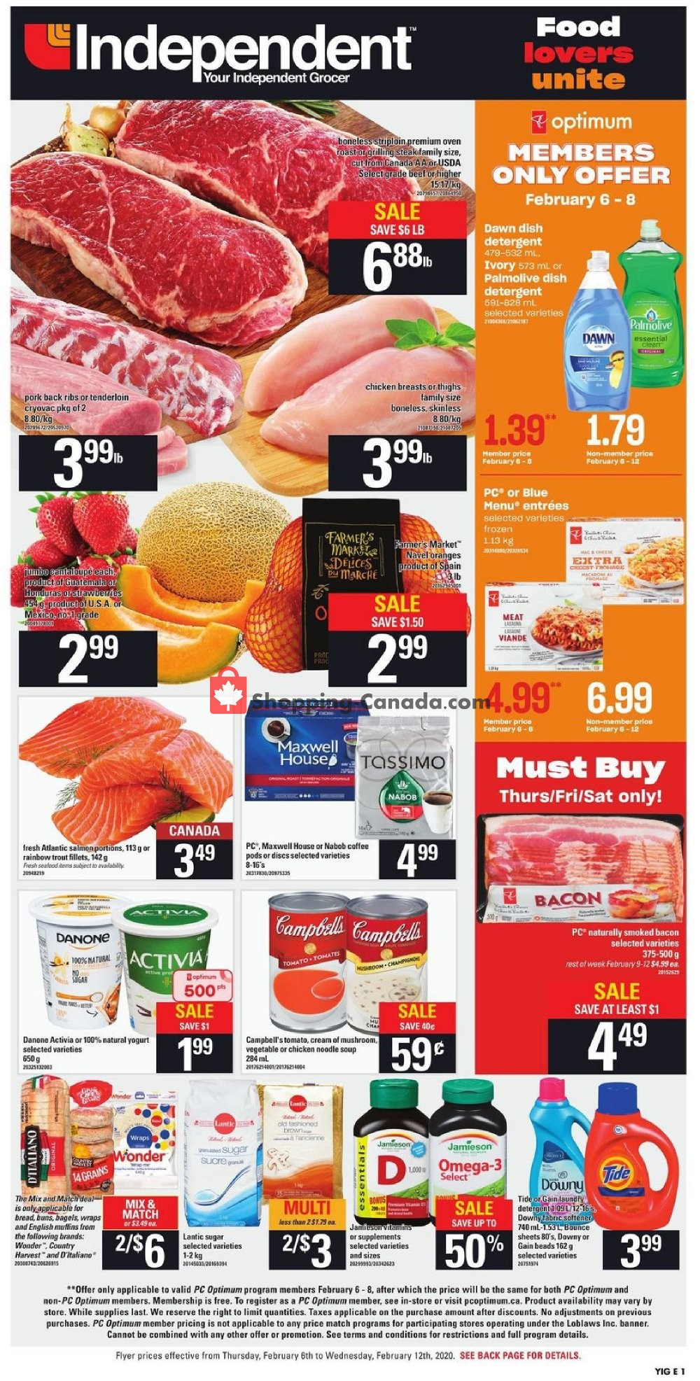 Flyer Your Independent Grocer Canada - from Thursday February 6, 2020 to Wednesday February 12, 2020