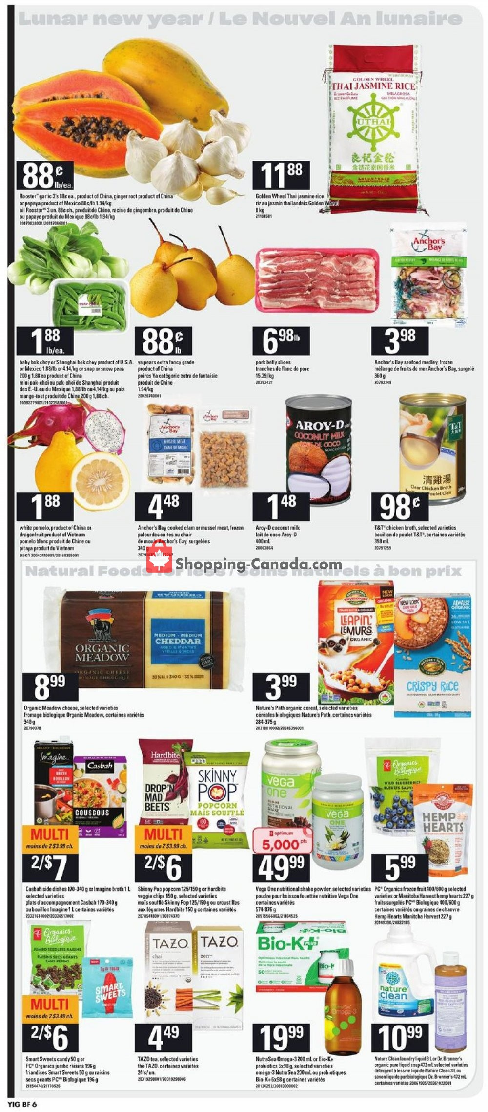Flyer Your Independent Grocer Canada - from Thursday January 16, 2020 to Wednesday January 22, 2020