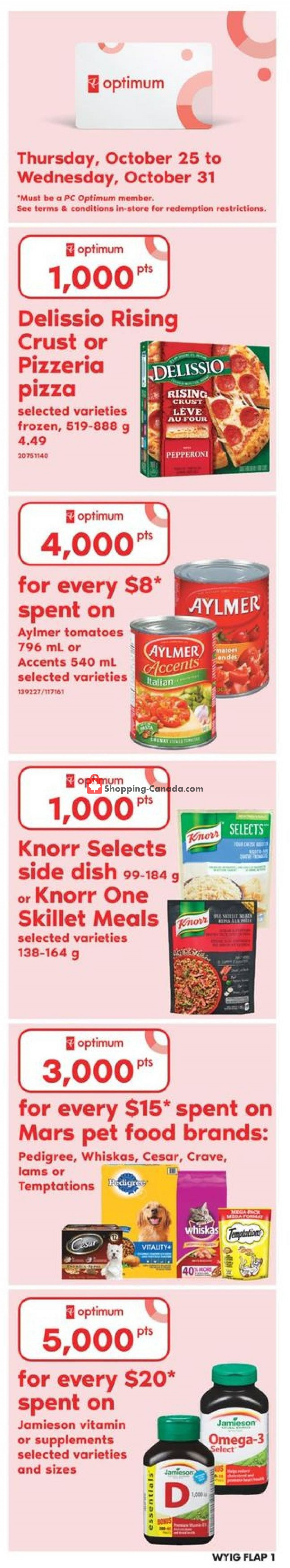 Flyer Your Independent Grocer Canada - from Thursday October 25, 2018 to Wednesday October 31, 2018