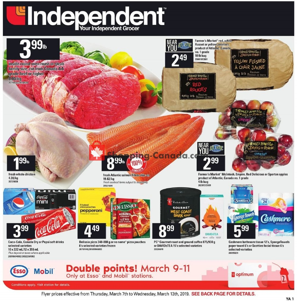 Flyer Your Independent Grocer Canada - from Thursday March 7, 2019 to Wednesday March 13, 2019