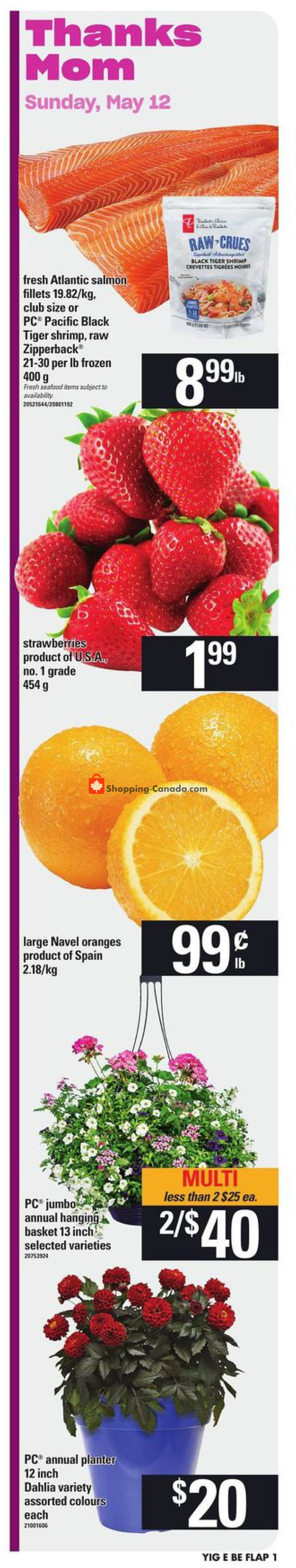 Flyer Your Independent Grocer Canada - from Thursday May 9, 2019 to Wednesday May 15, 2019