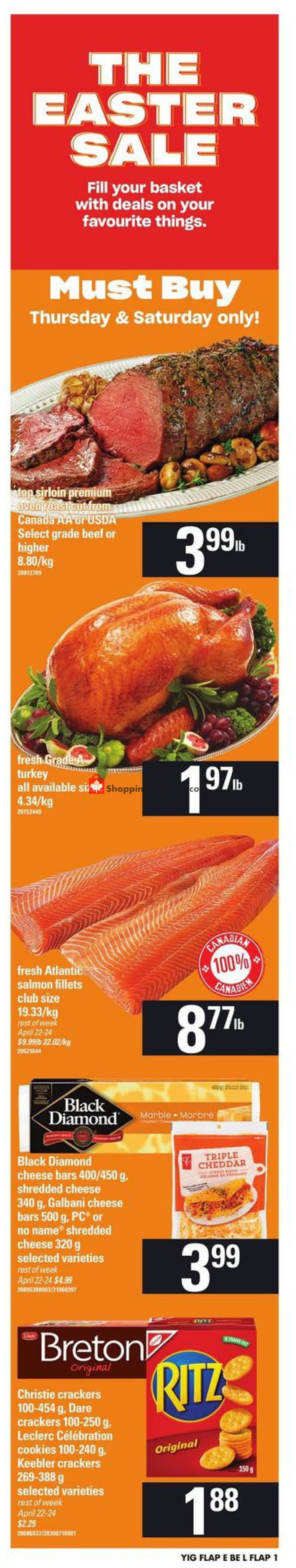 Flyer Your Independent Grocer Canada - from Thursday April 18, 2019 to Wednesday April 24, 2019