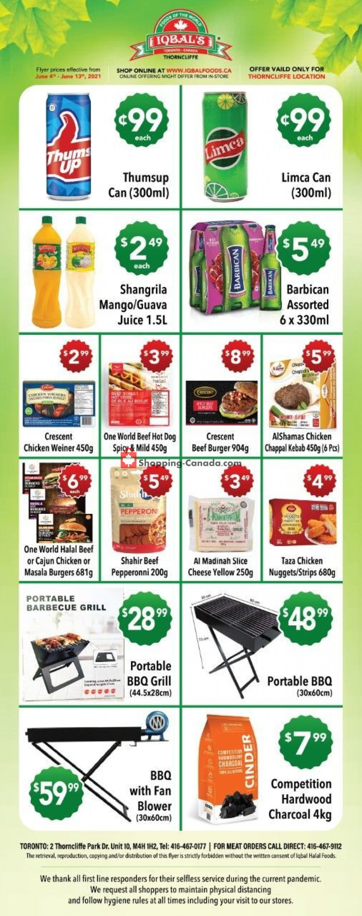 Flyer Iqbal Foods Canada - from Friday June 4, 2021 to Sunday June 13, 2021