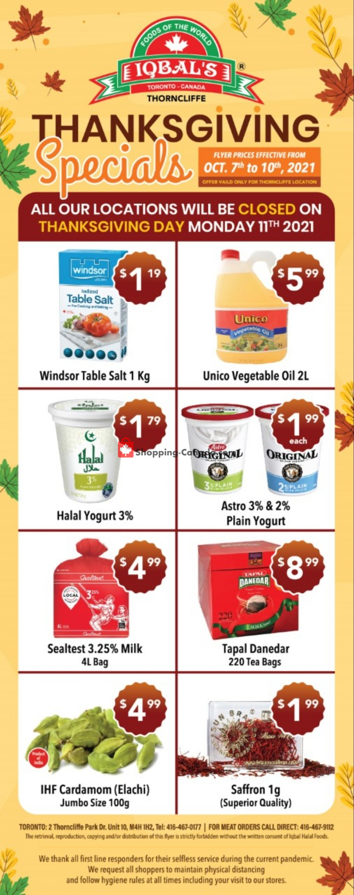 Flyer Iqbal Foods Canada - from Thursday October 7, 2021 to Sunday October 10, 2021