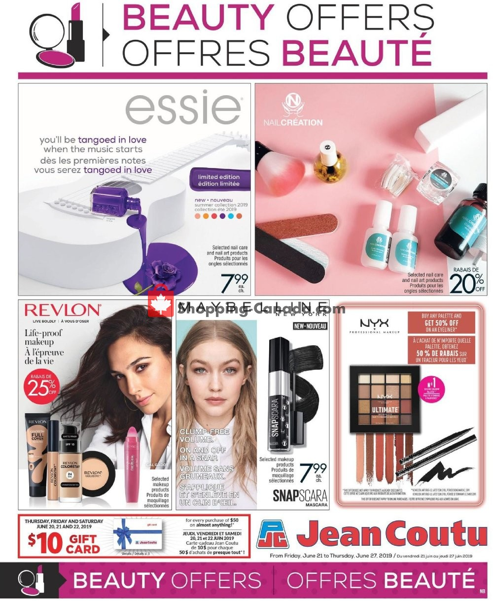 Flyer and weekly ads: Jean Coutu Pharmacy Canada - (Beauty Offers
