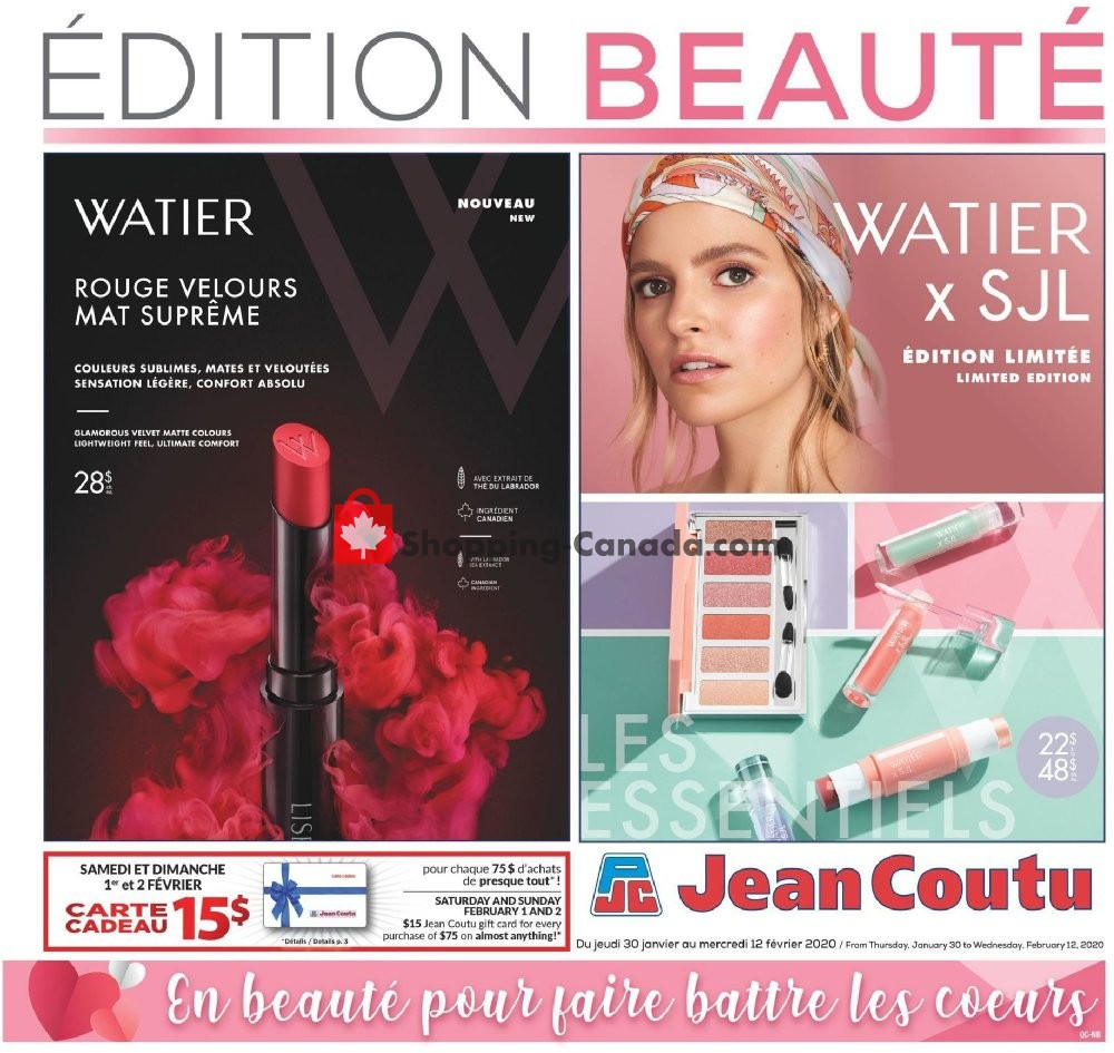 Flyer Jean Coutu Pharmacy Canada - from Thursday January 30, 2020 to Wednesday February 12, 2020