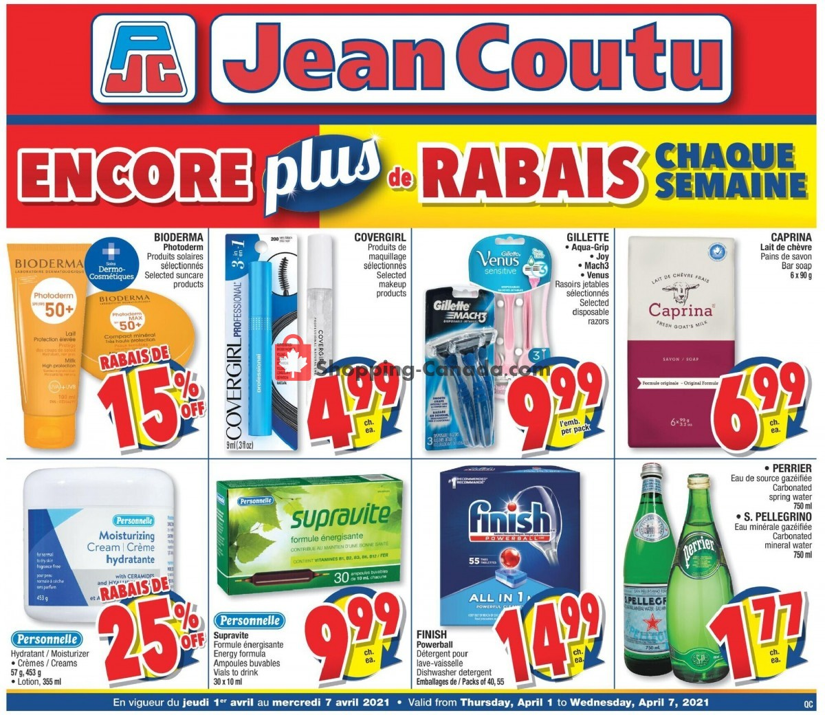 Flyer Jean Coutu Pharmacy Canada - from Thursday April 1, 2021 to Wednesday April 7, 2021